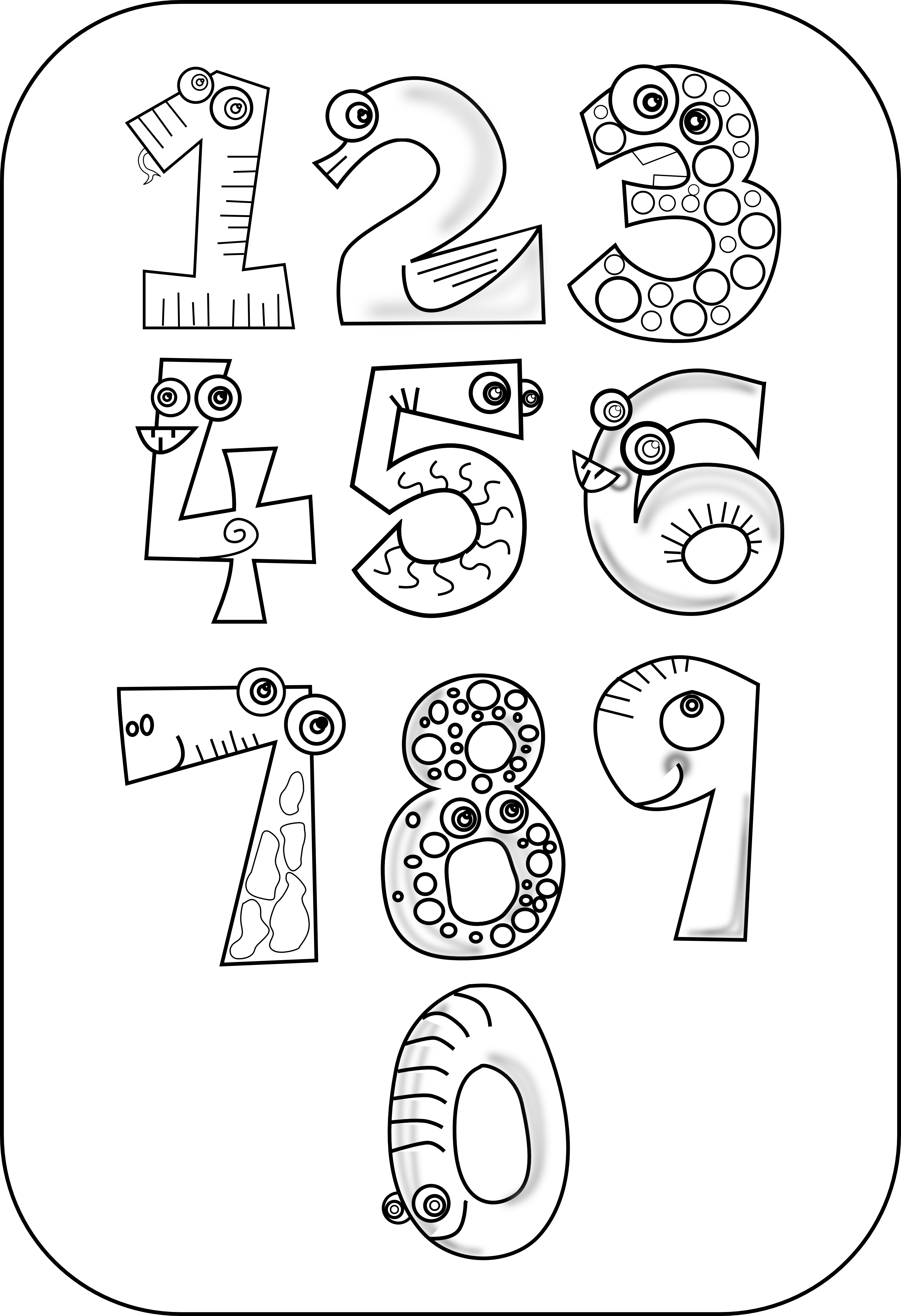 Number Book Clipart