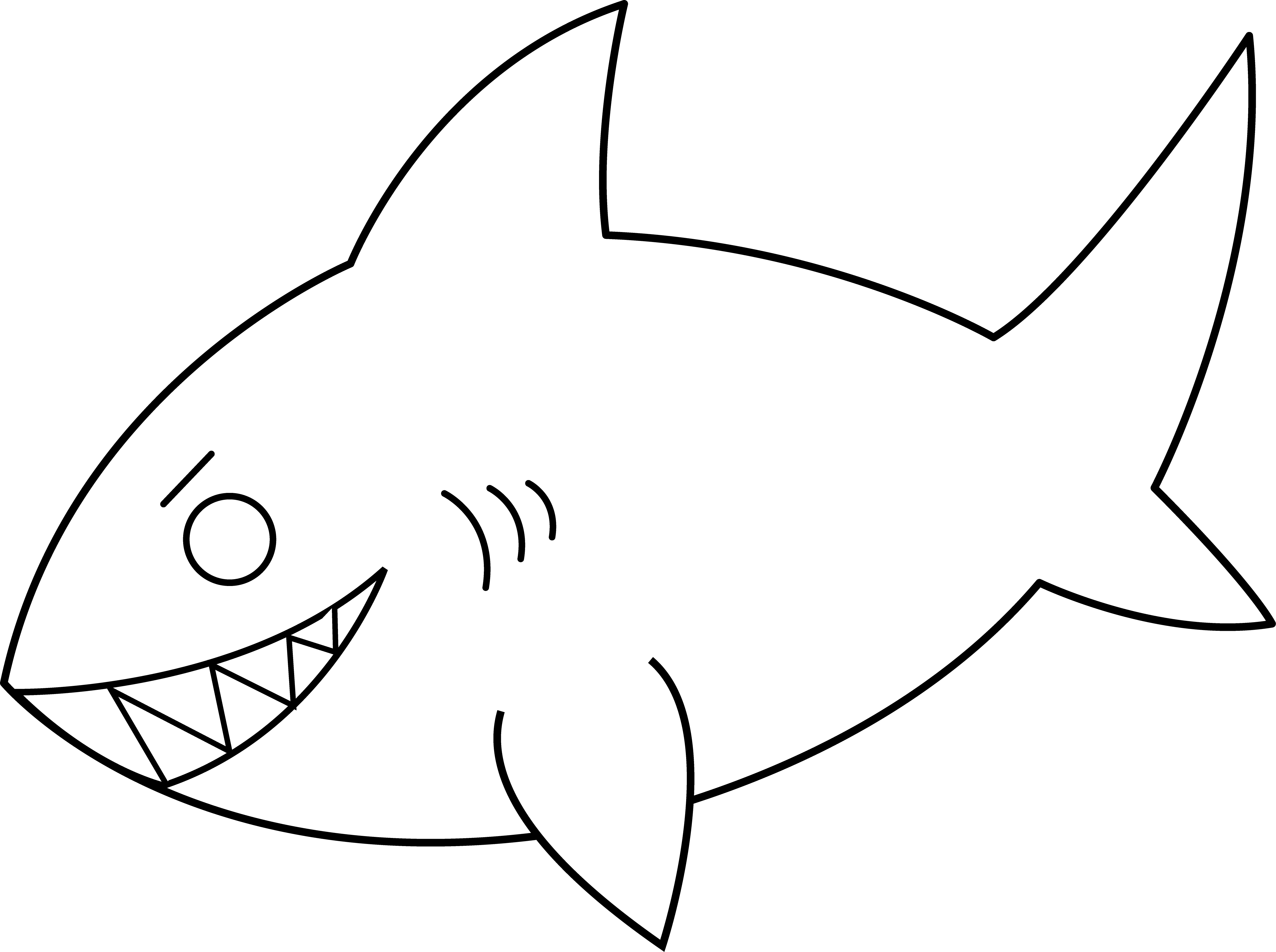 Ocean Animal Clipart Black And White 20 Free Cliparts