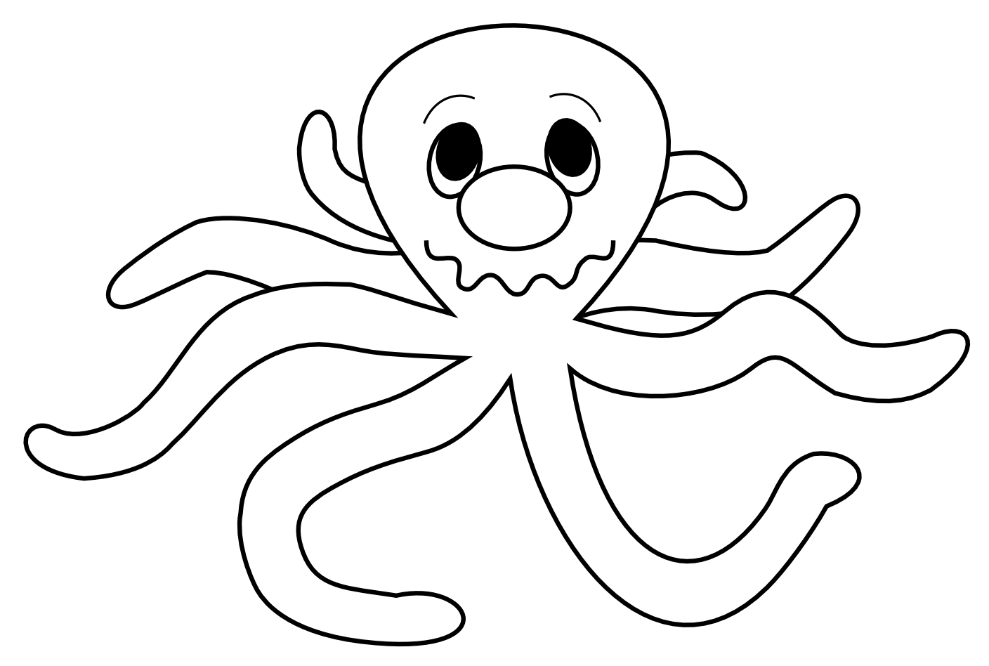 Octopus Clipart Outline