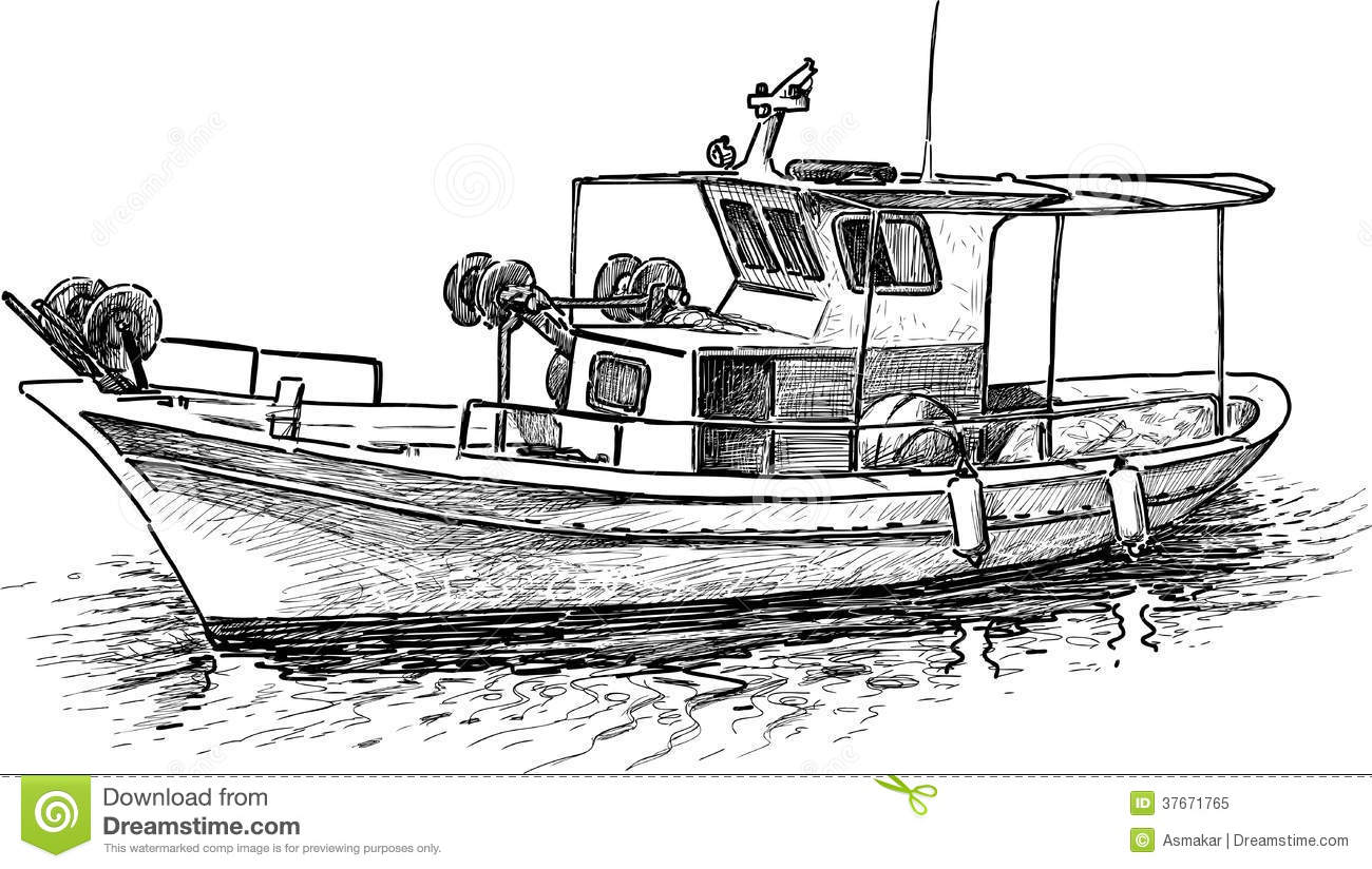 Old Fishing Boat Clipart