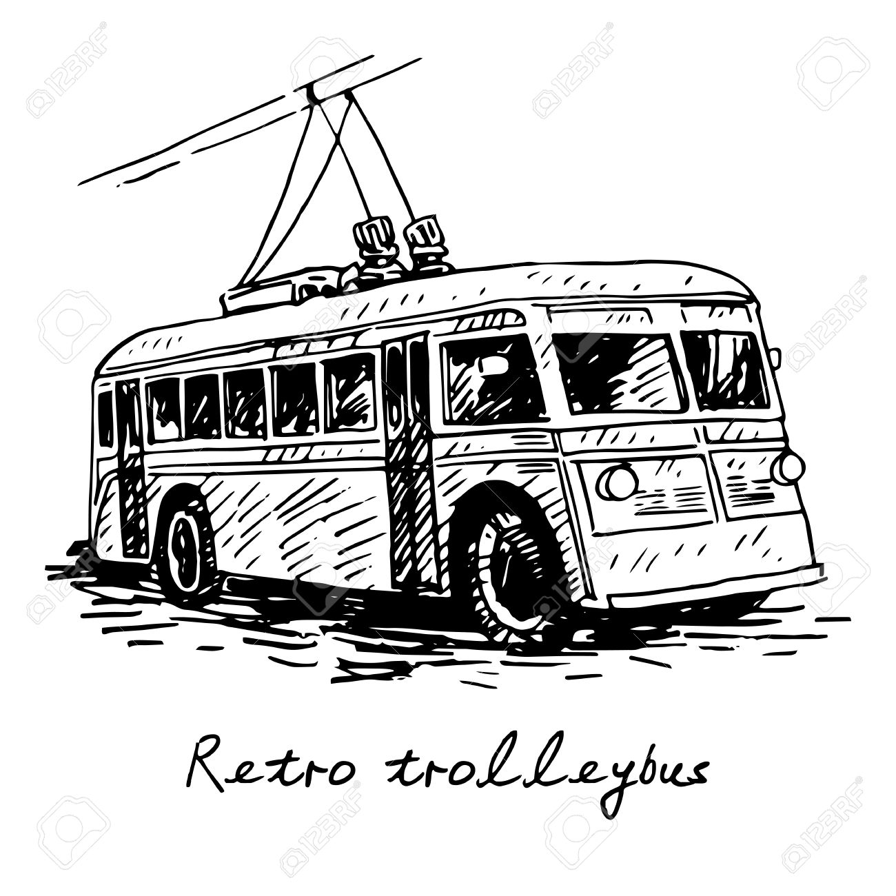 Old Trolley Clipart