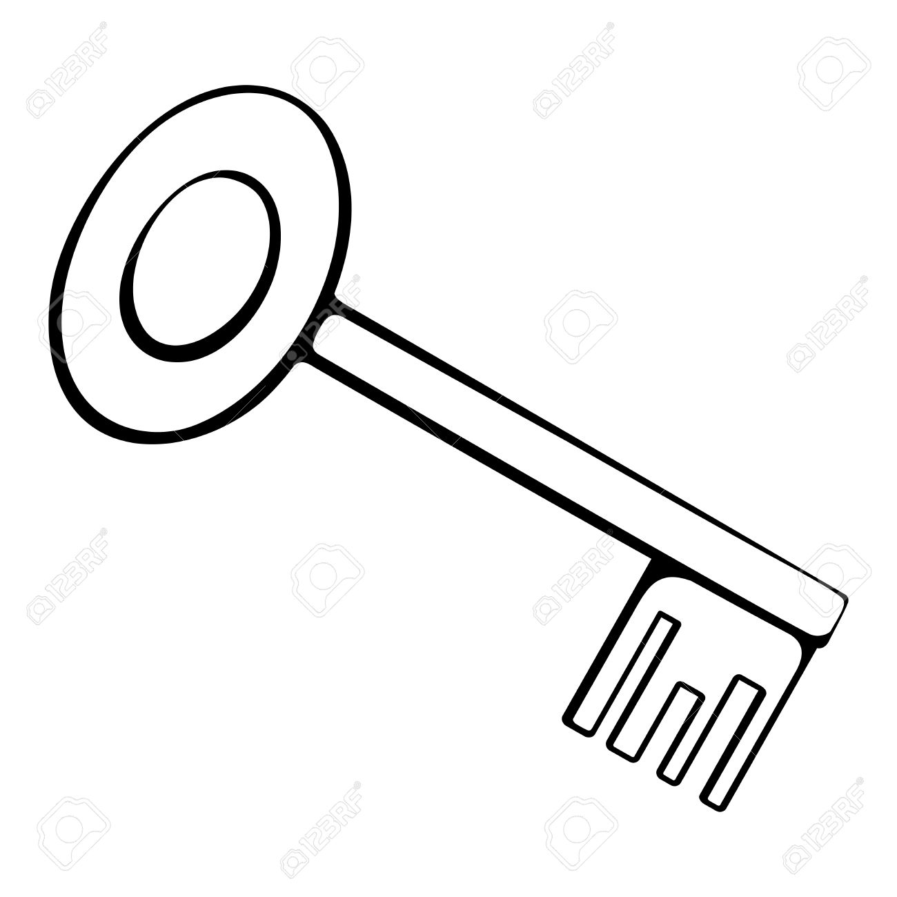 Outline Of A Key Clipart