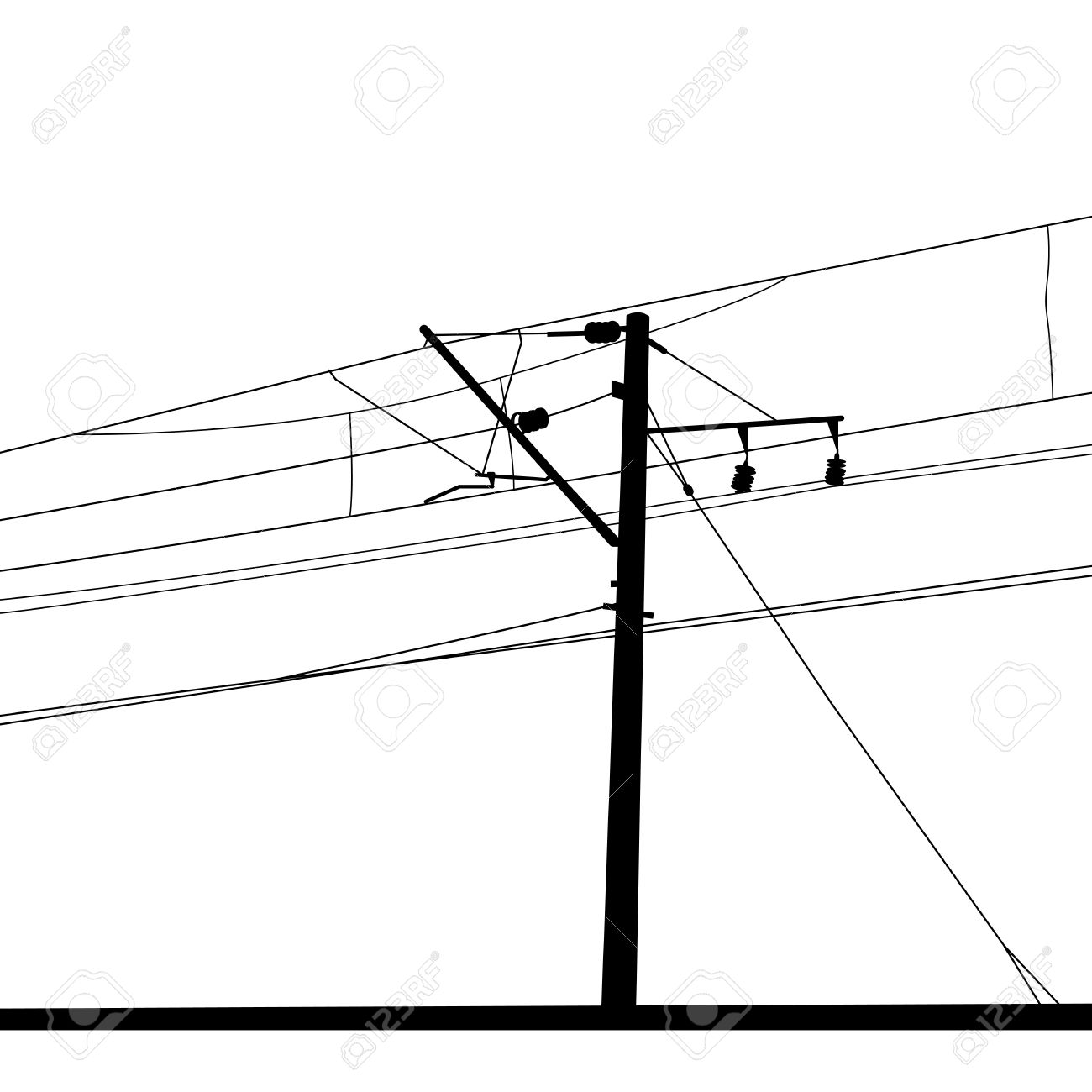 Overhead Electrical Wire