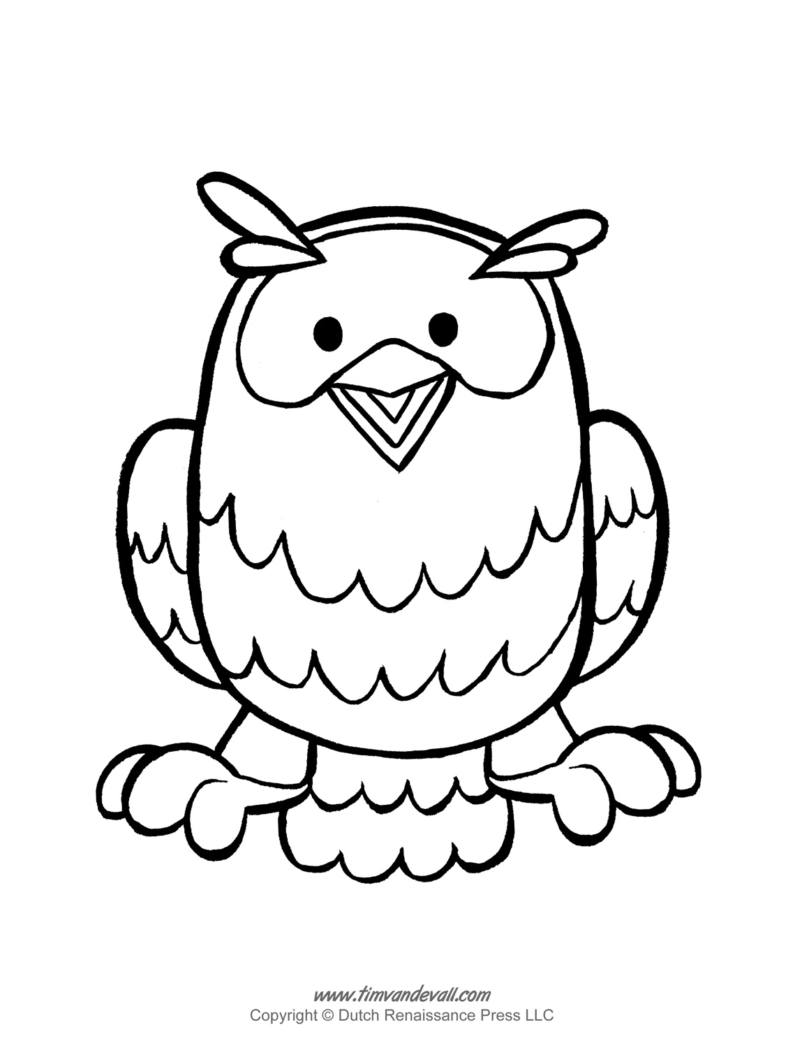 Owl Clipart Template