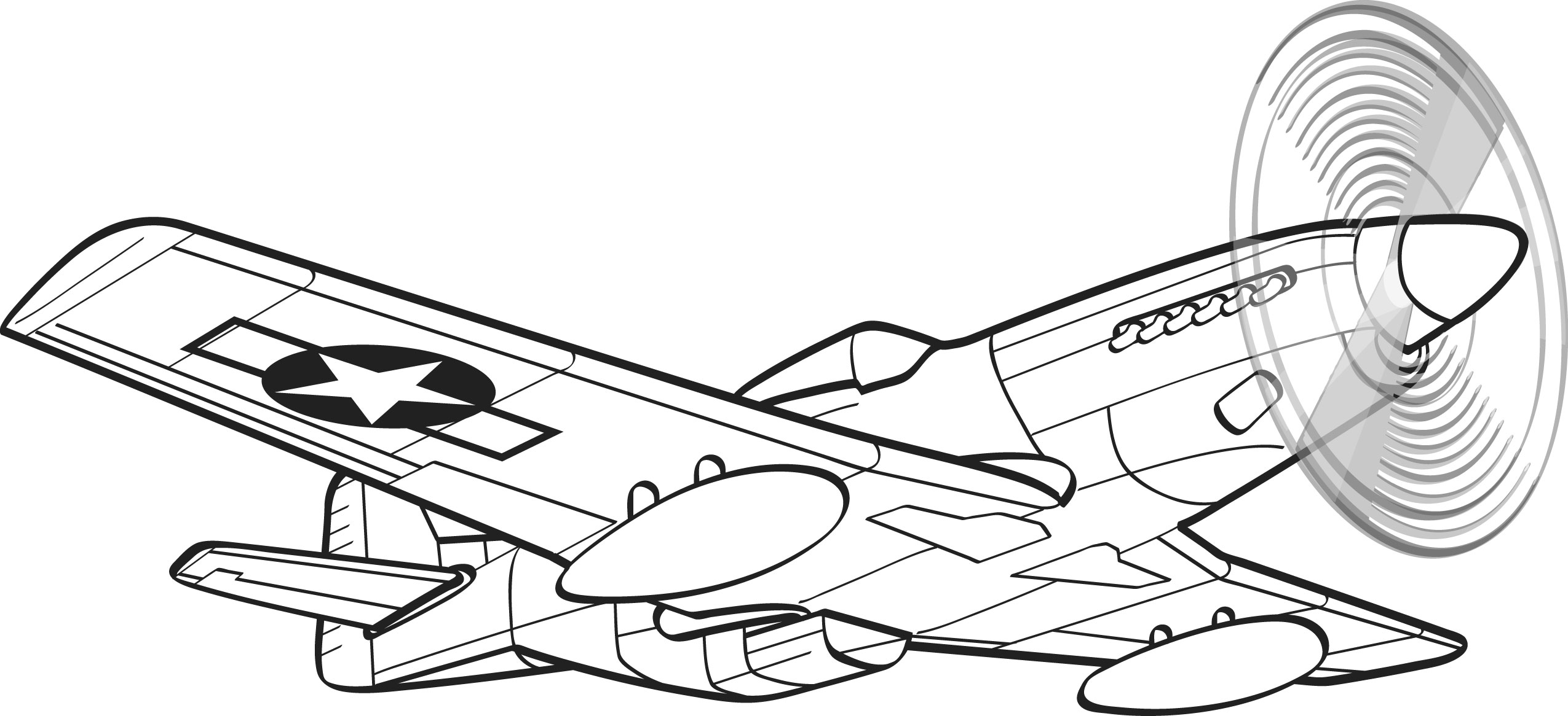 P51 Mustang Clipart