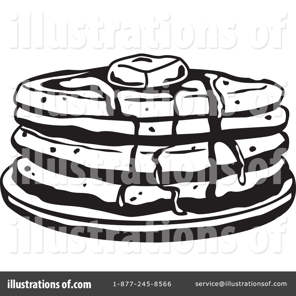Pancakes Clipart Black And White