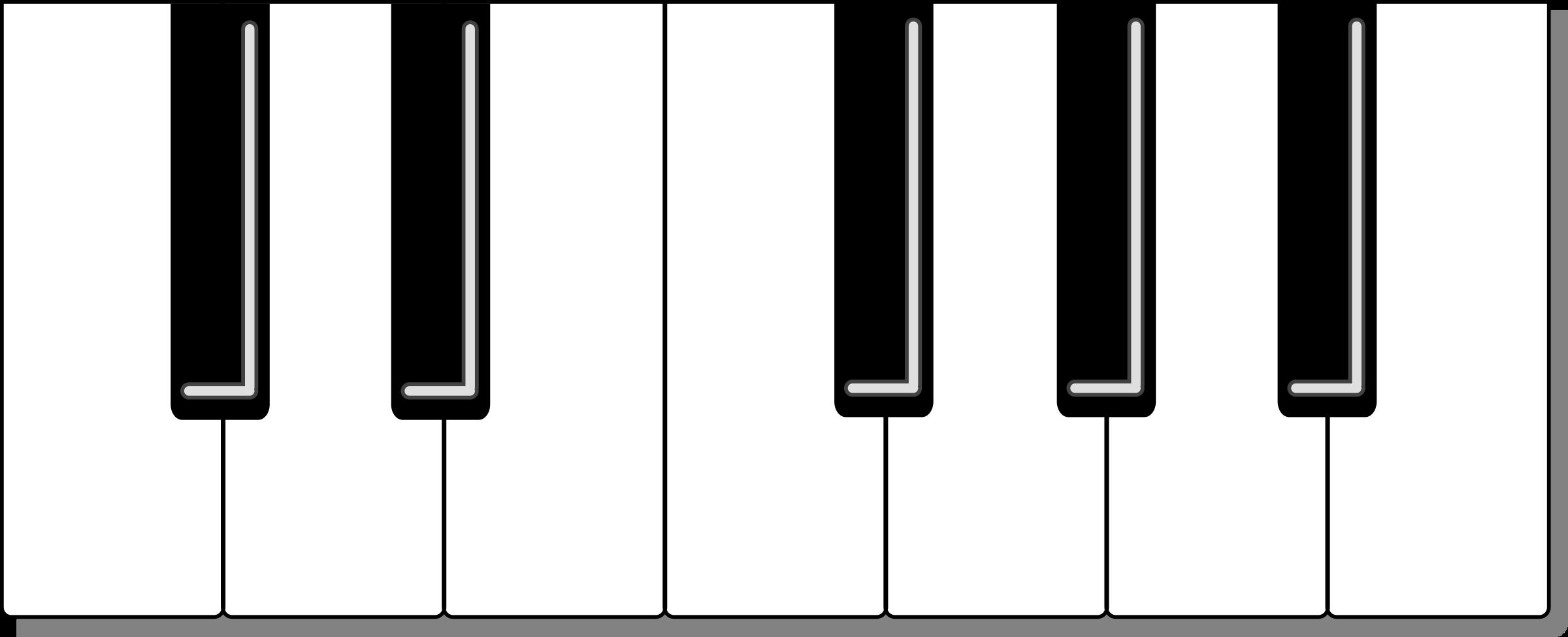 Piano Key Clipart