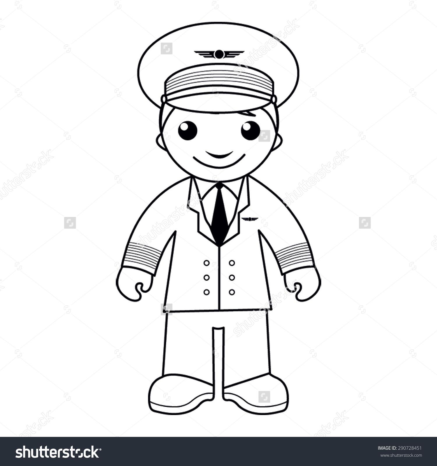 Pilot Clipart Black And White