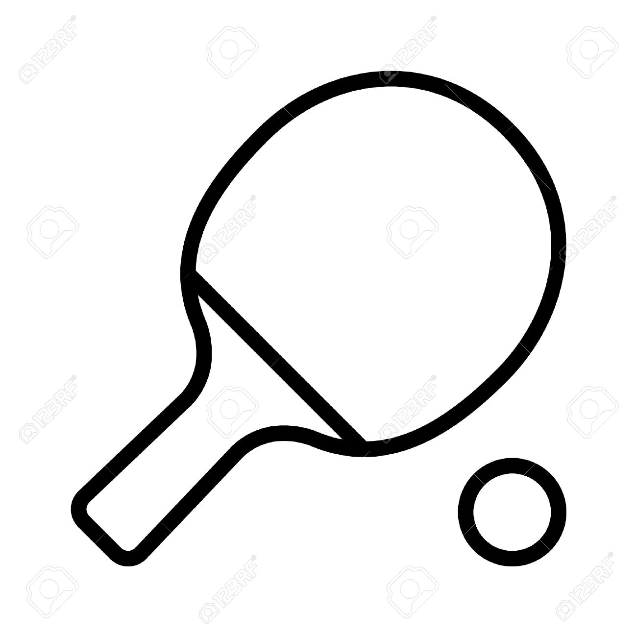 Ping Pong Paddle Clipart