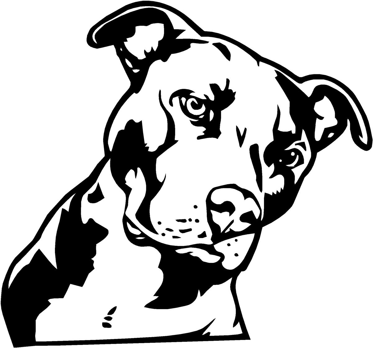 Pitbull Clipart Black White 20 Free Cliparts