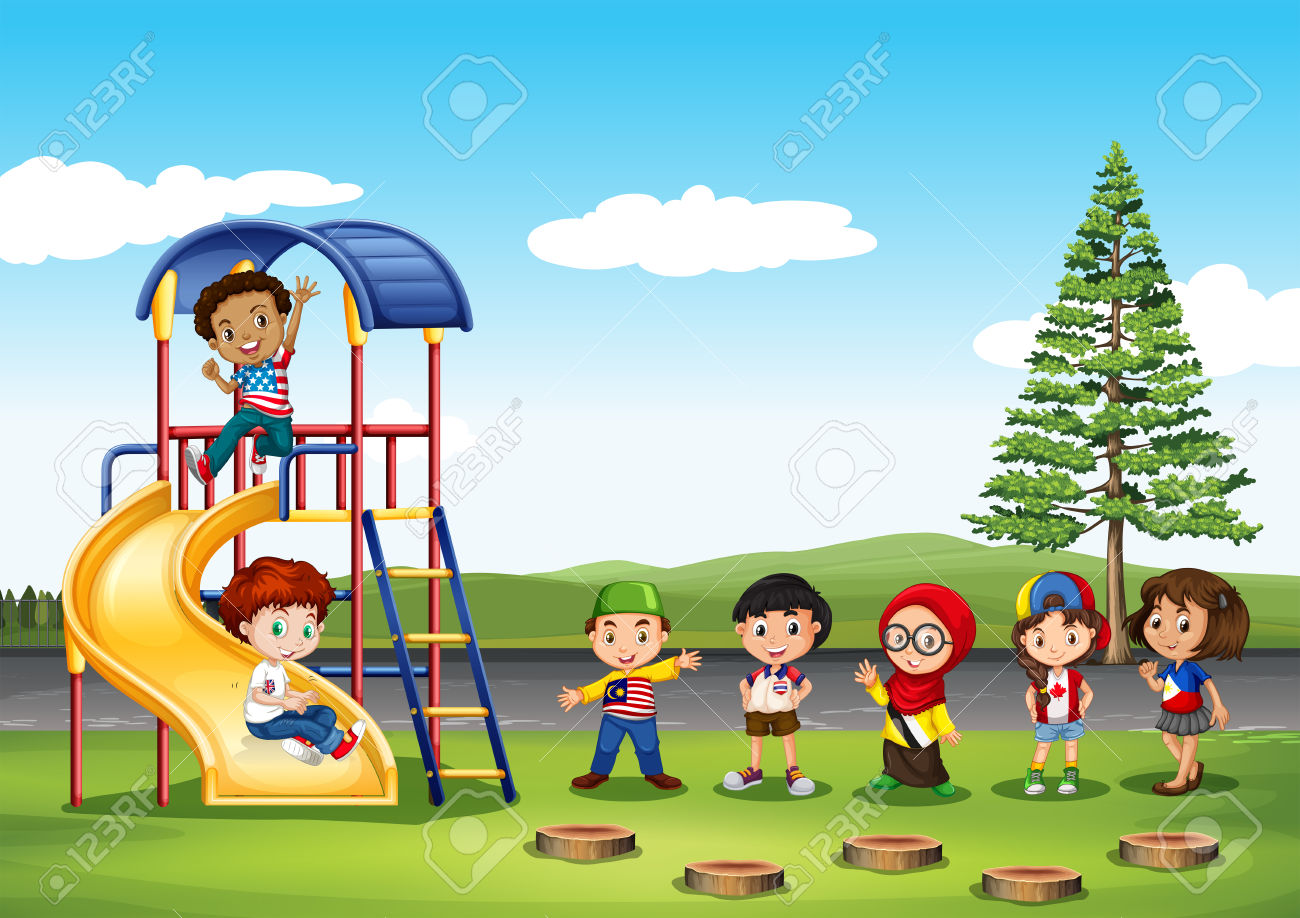 Outside Playground Cartoon