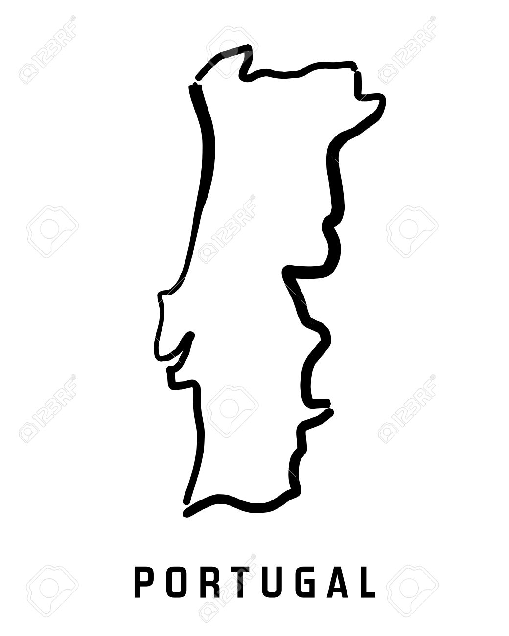 Portugal Black And White Clipart