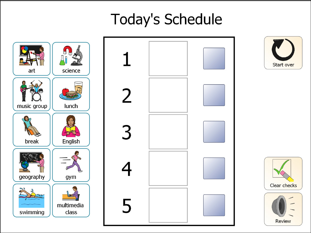 Boardmaker Schedule Icons