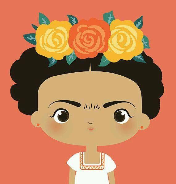 Frida Kahlo Cute Cartoon