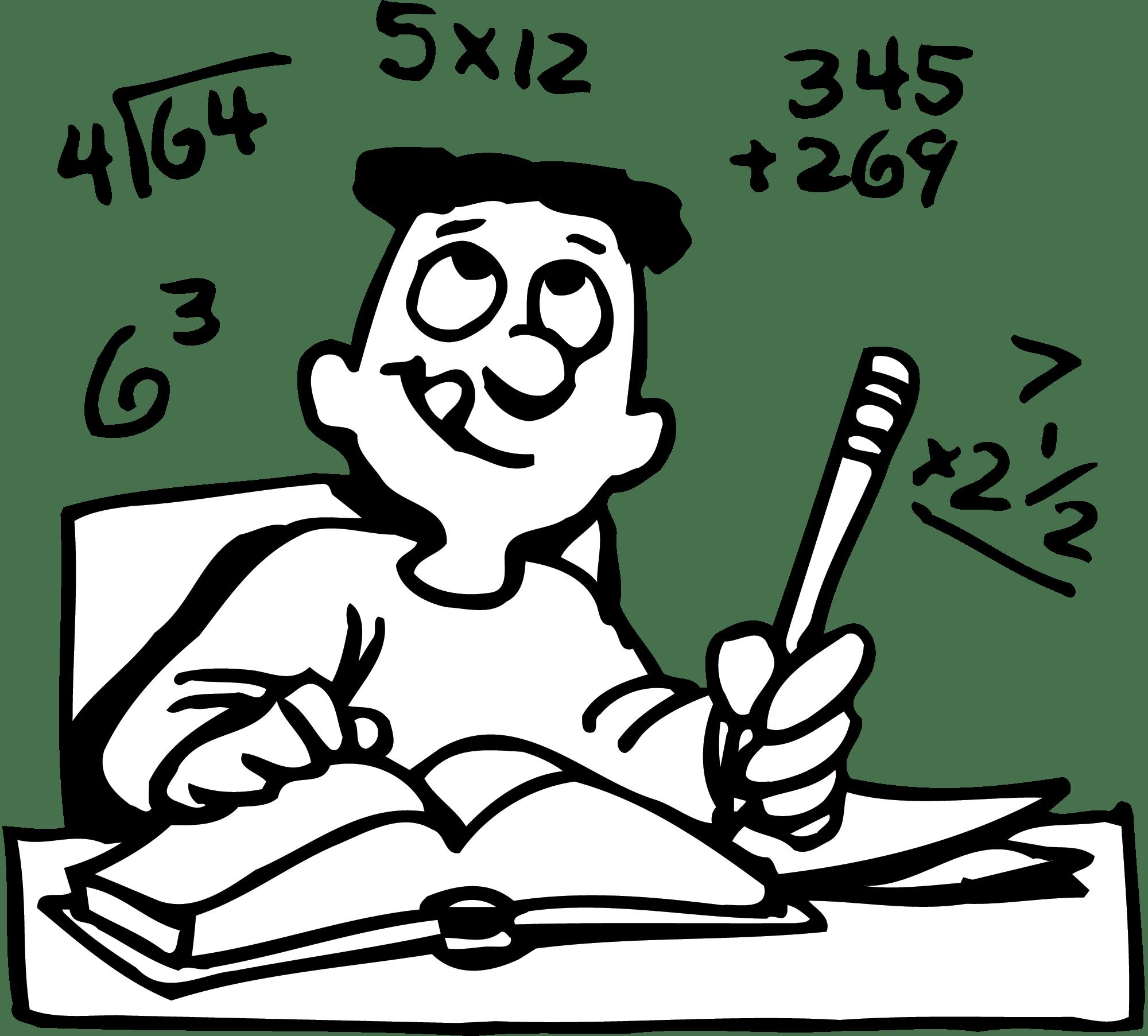 Black And White Clipart Math Class
