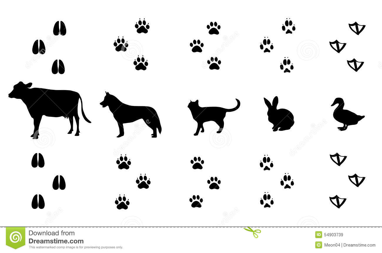 Rabbit Tracks Clipart