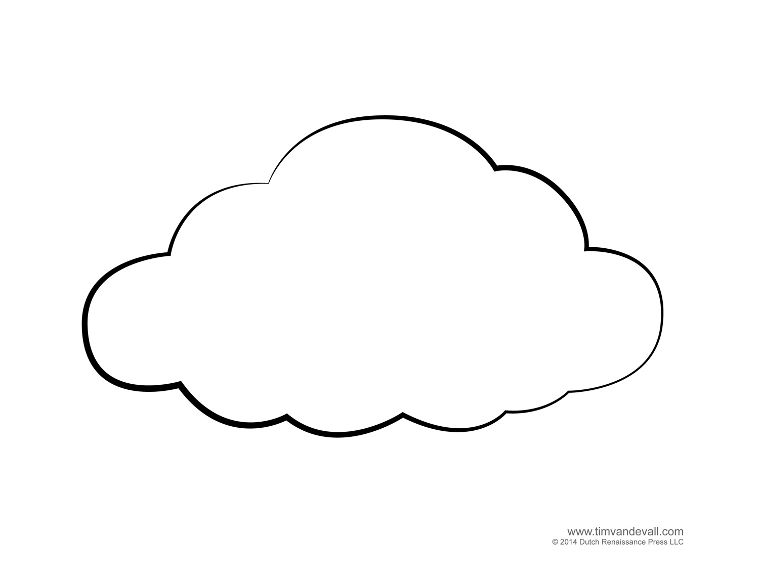 Rain Cloud Outline Clipart