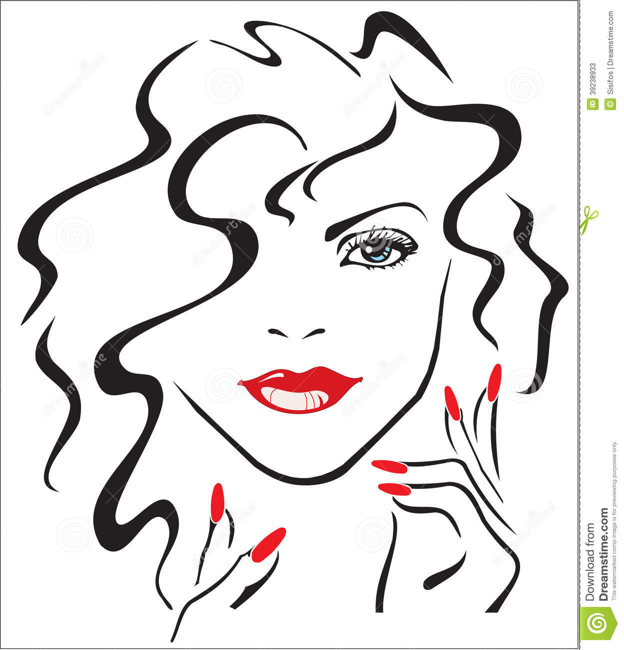 Red Nails Clipart
