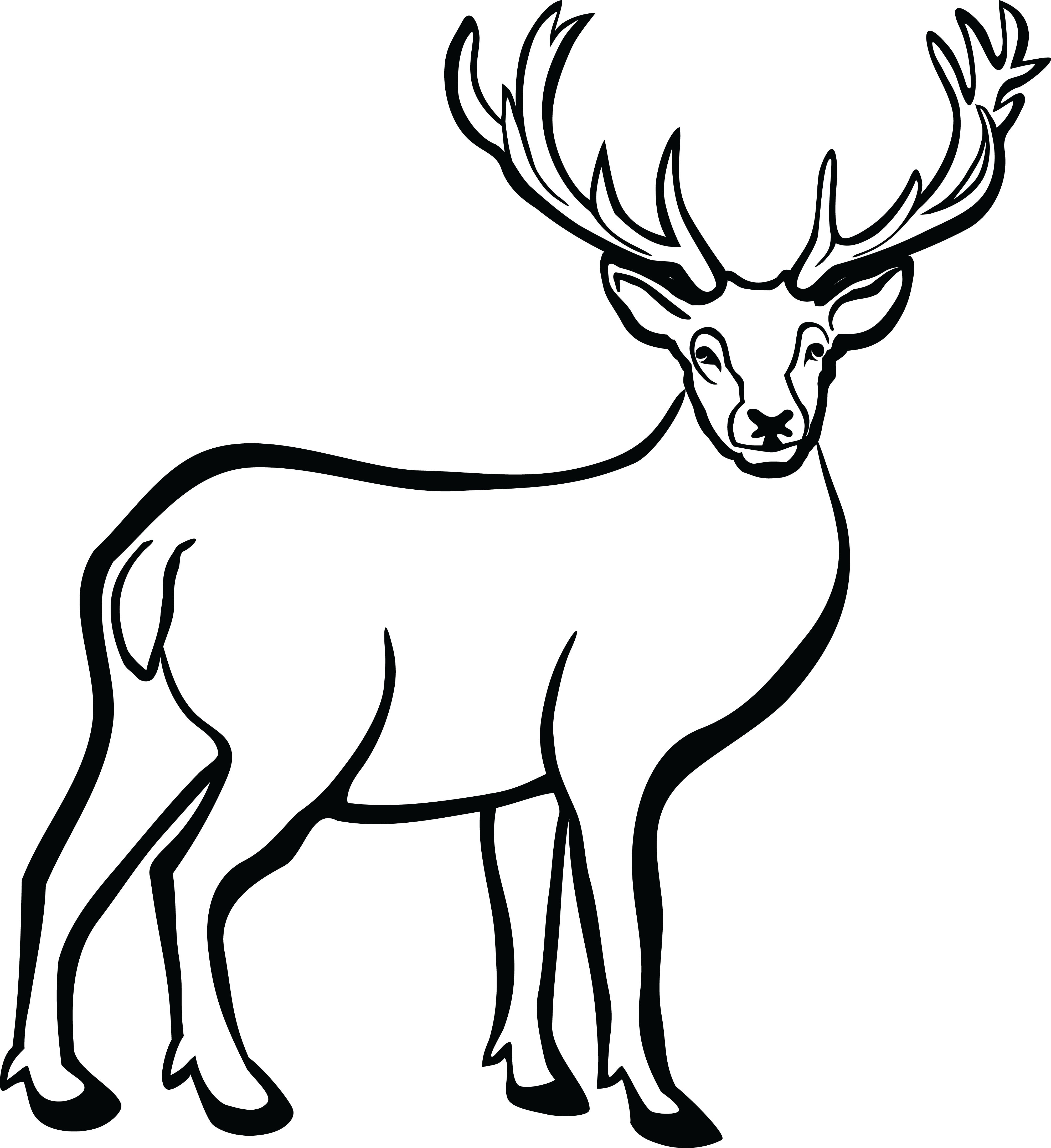 Reindeer Black And White Clipart 10 Free Cliparts