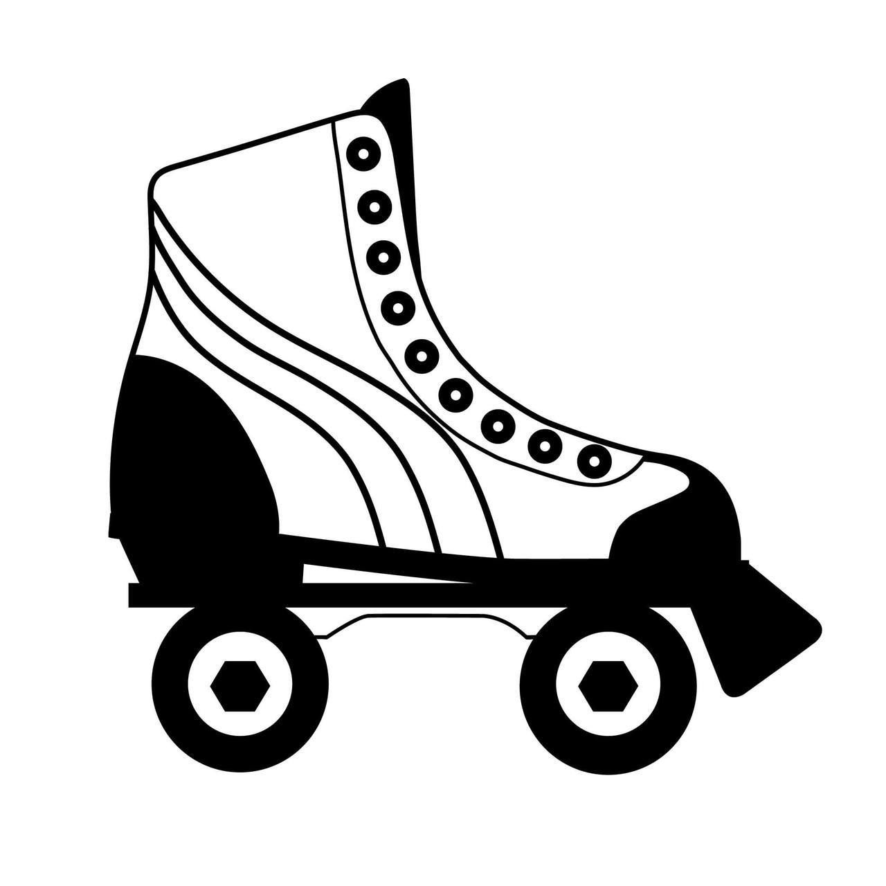 Roller Skates Clipart Black And White 10 Free Cliparts