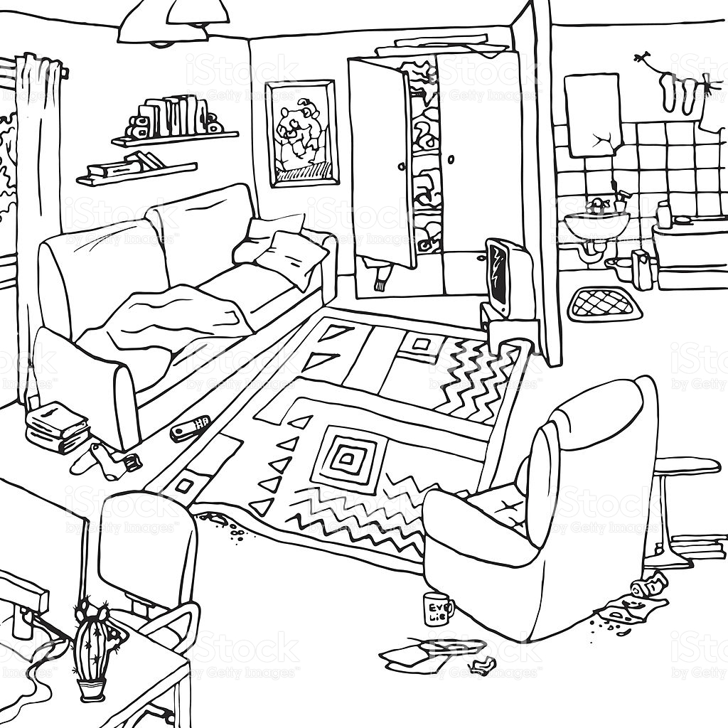 Room Clipart Black And White 20 Free Cliparts