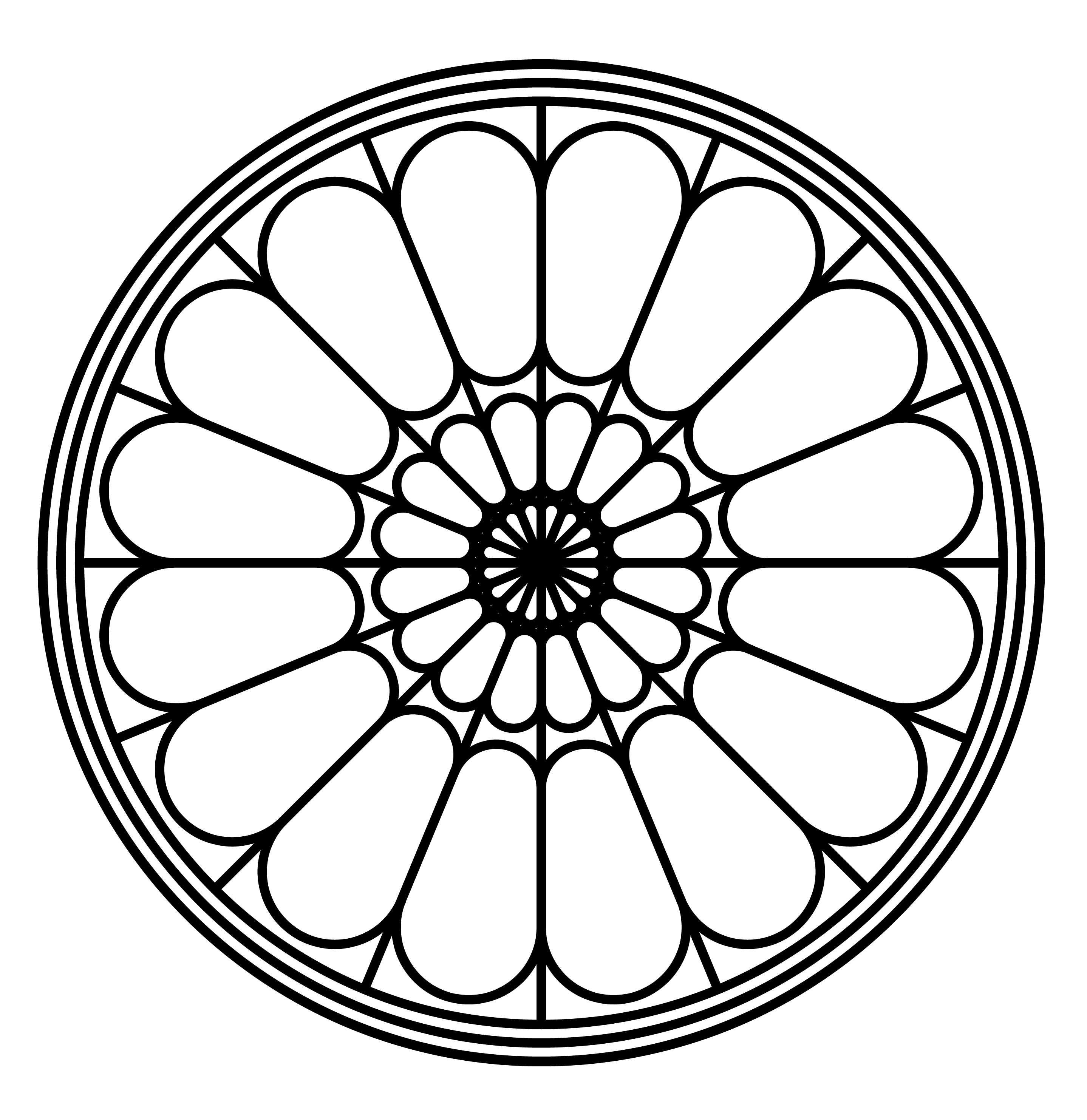 Rose Window Clipart