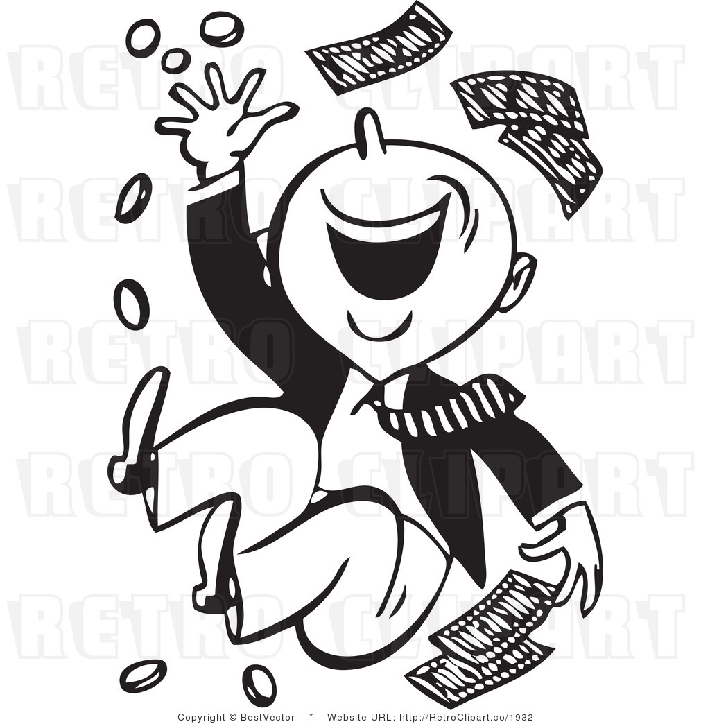 Saving Money Clipart Black And White