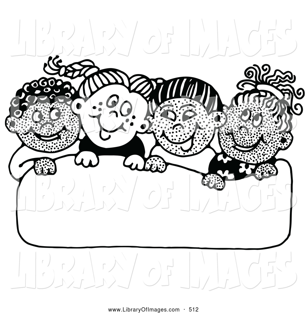 School Singing In Clipart Black And White