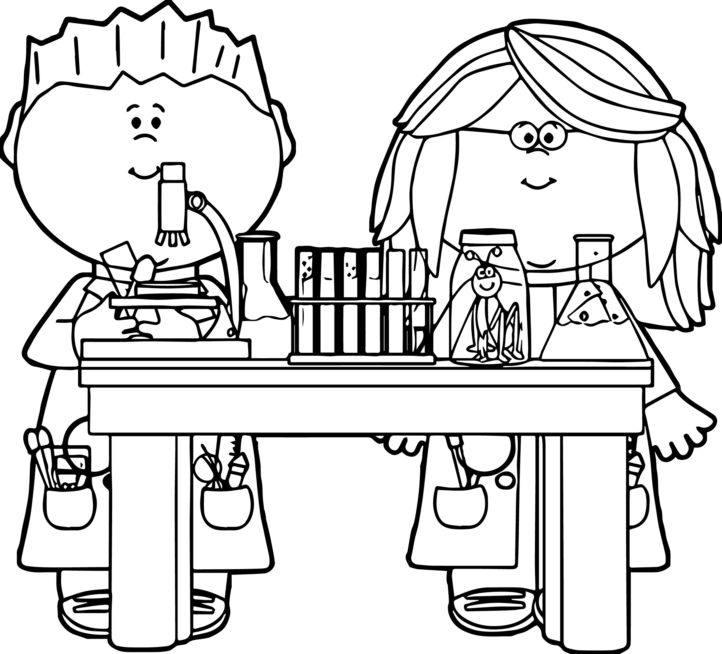Science Clipart For Kids Black And White
