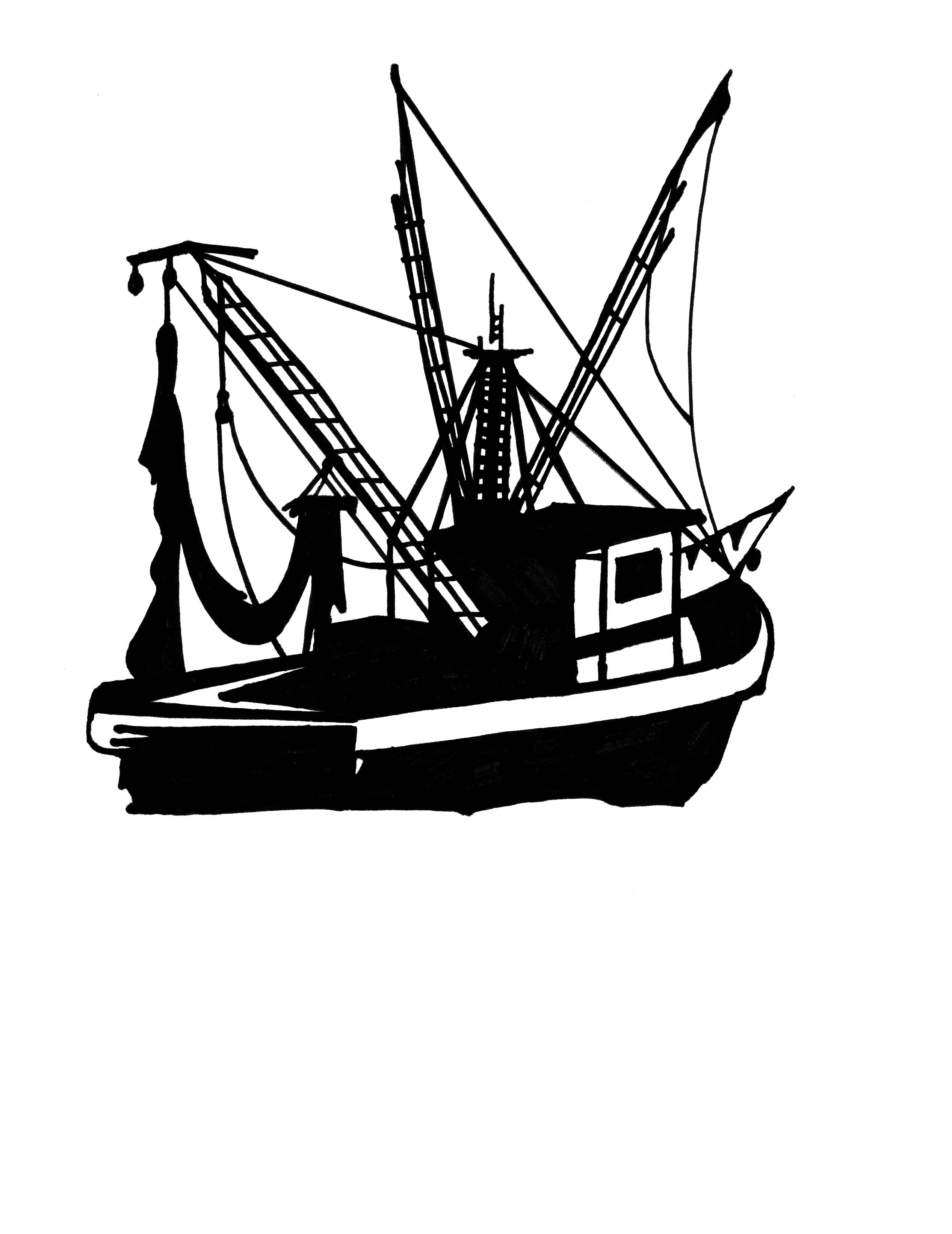 Shrimp Boats Clipart