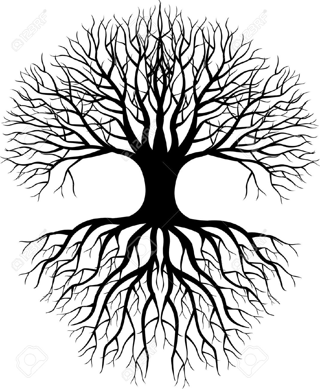 Simple Tree Silhouette Clear Background Clipart Open