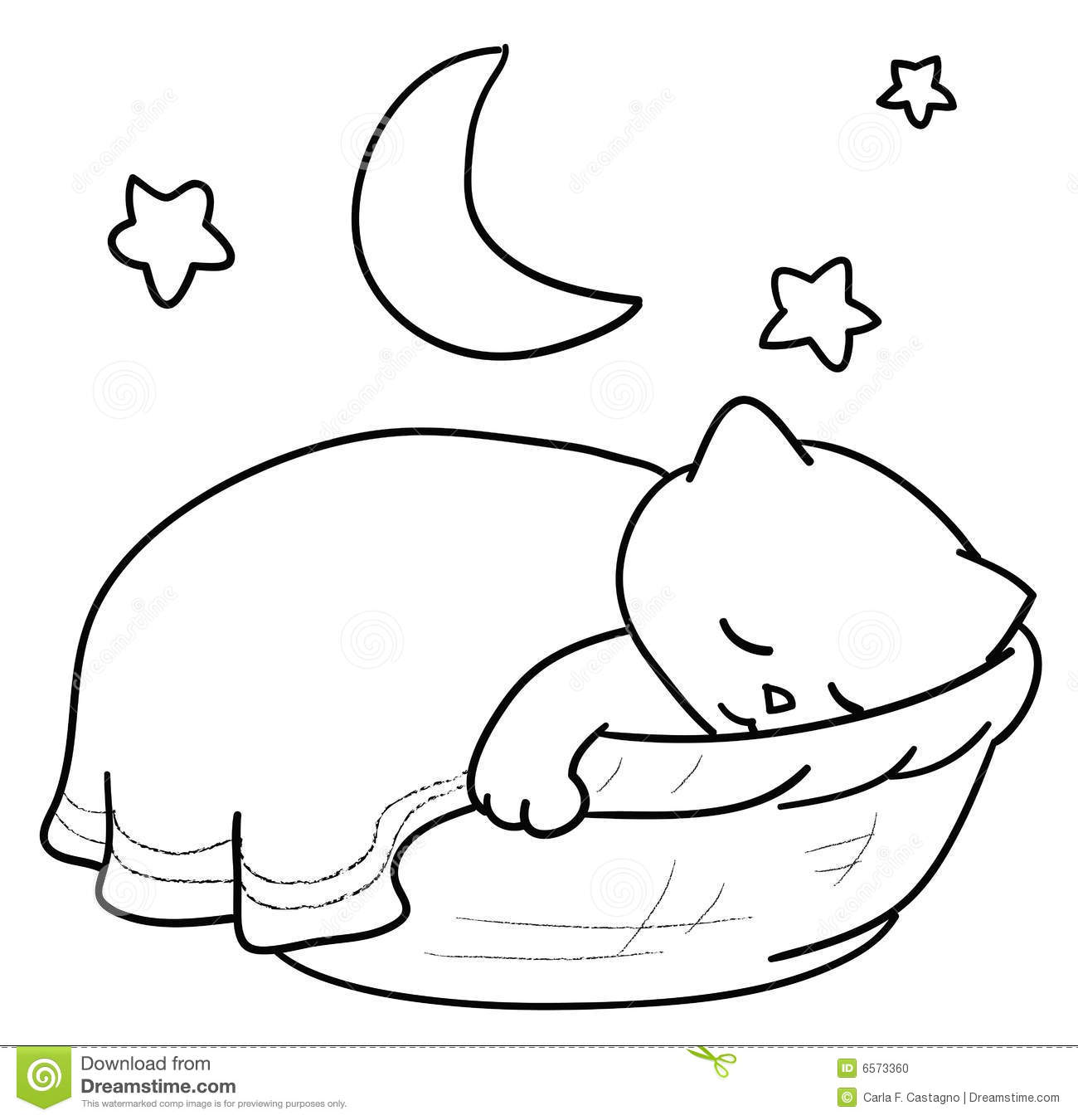 Sleep Basket Clipart