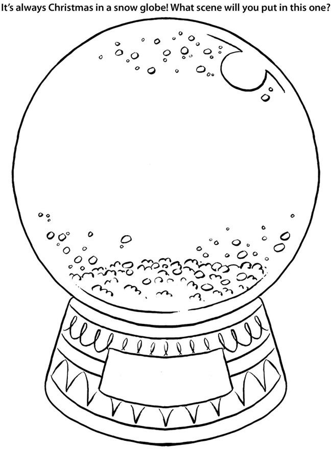 snow globe clipart black and white  free cliparts