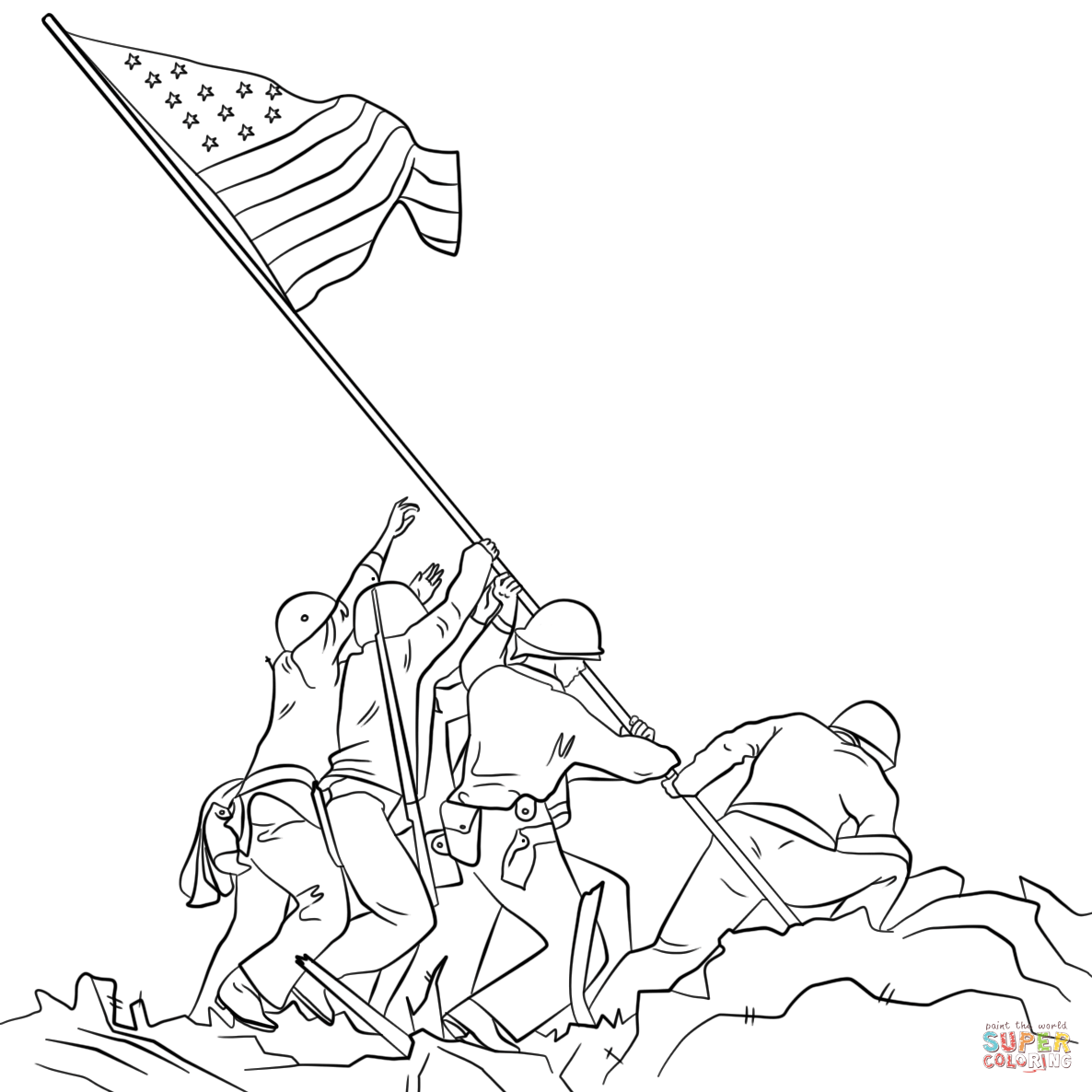 Sol Rs Putting Flag Up Drawing Clipart 20 Free Cliparts