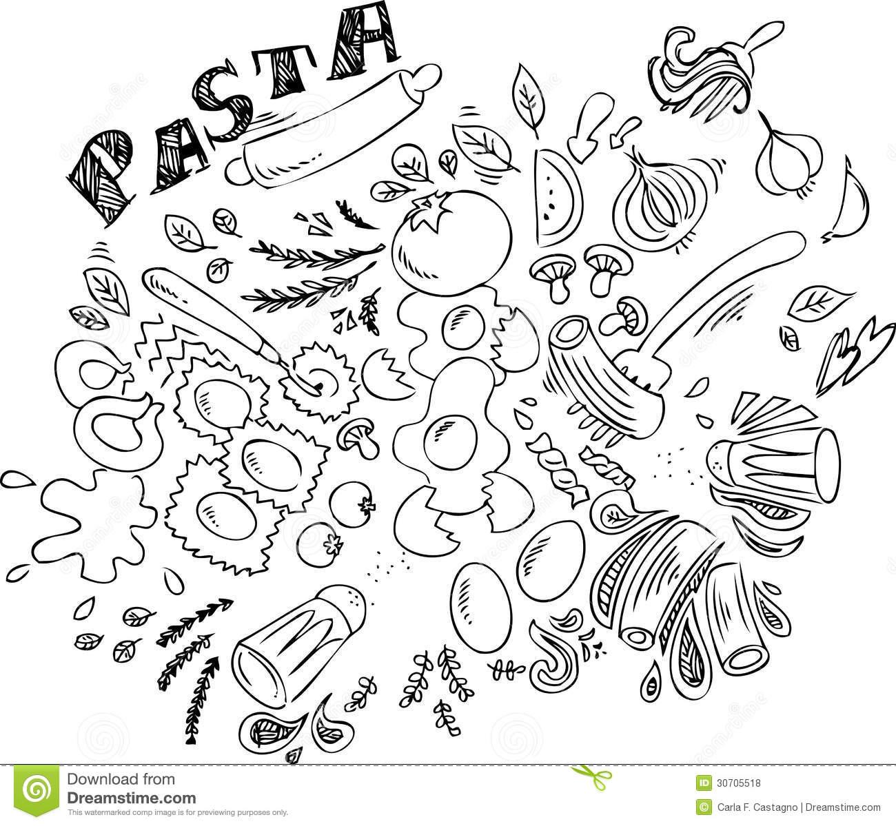 Spaghetti Food Clipart Black And White 20 Free Cliparts