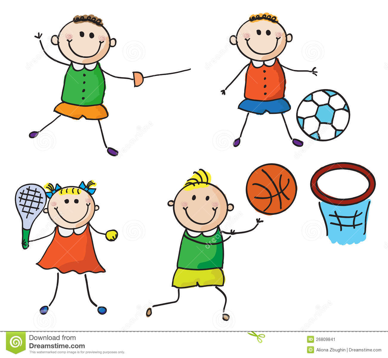 Sports Clipart For Boys