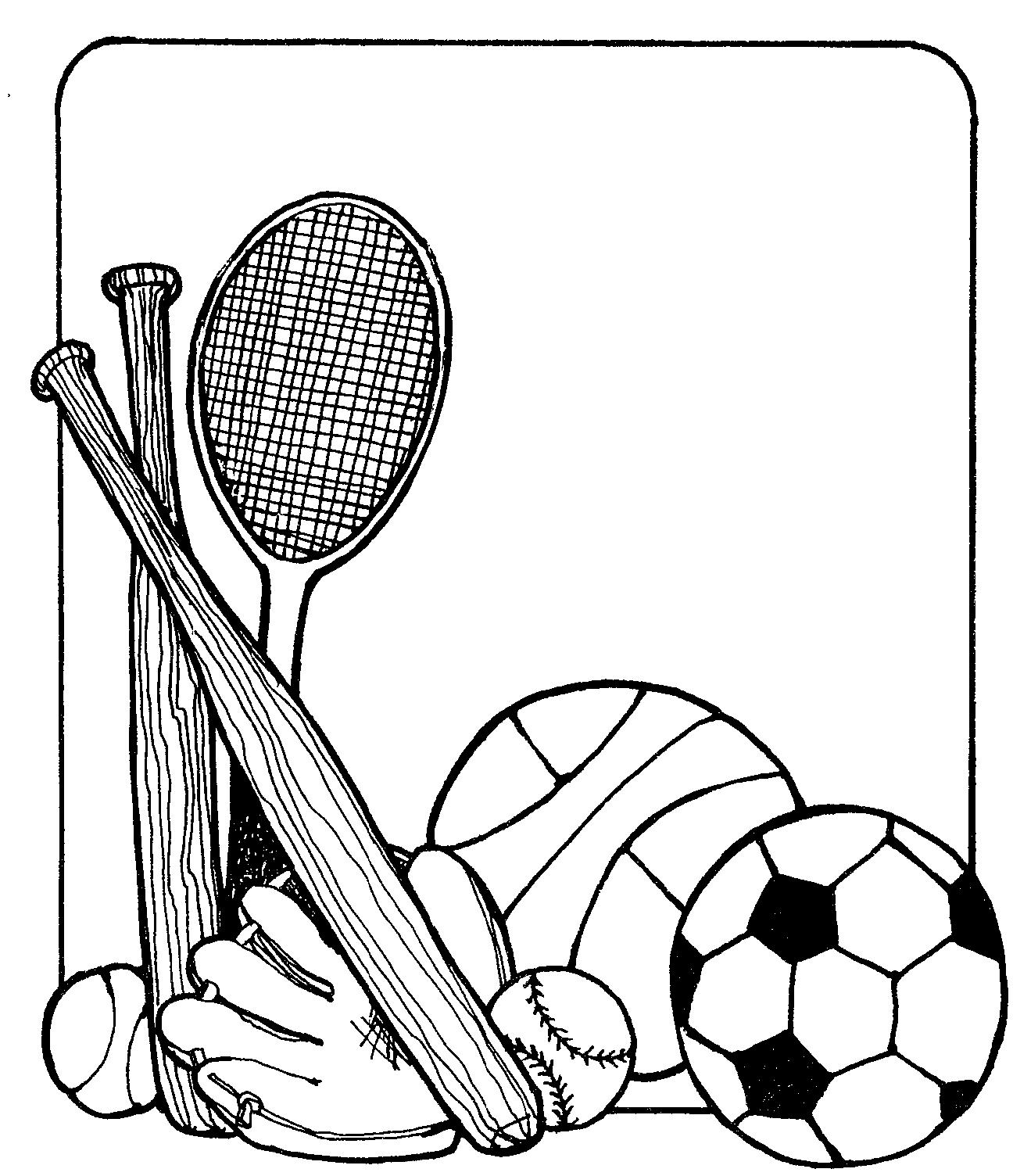 Sports Equipment Clipart
