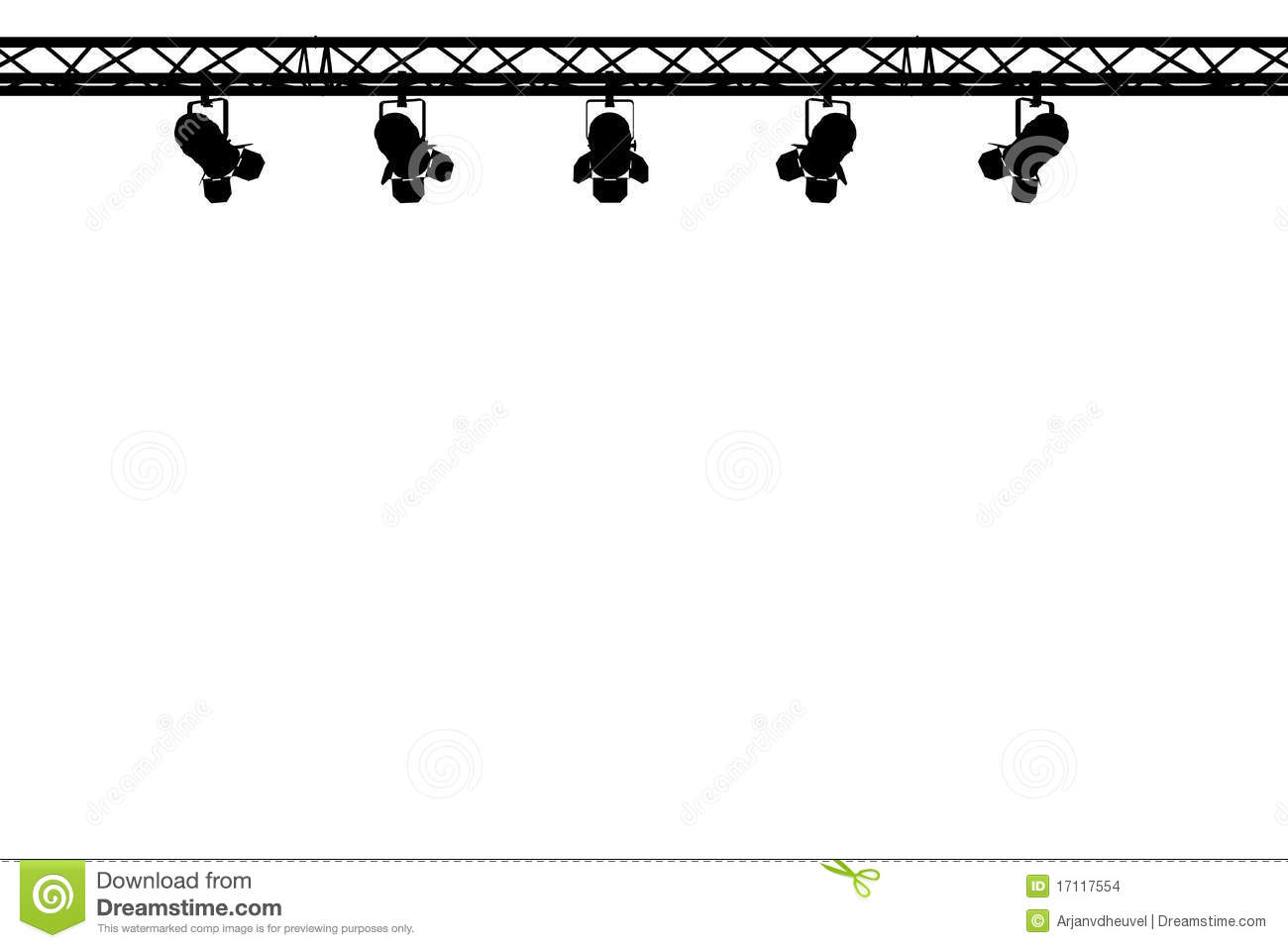 Stage Lights Clipart