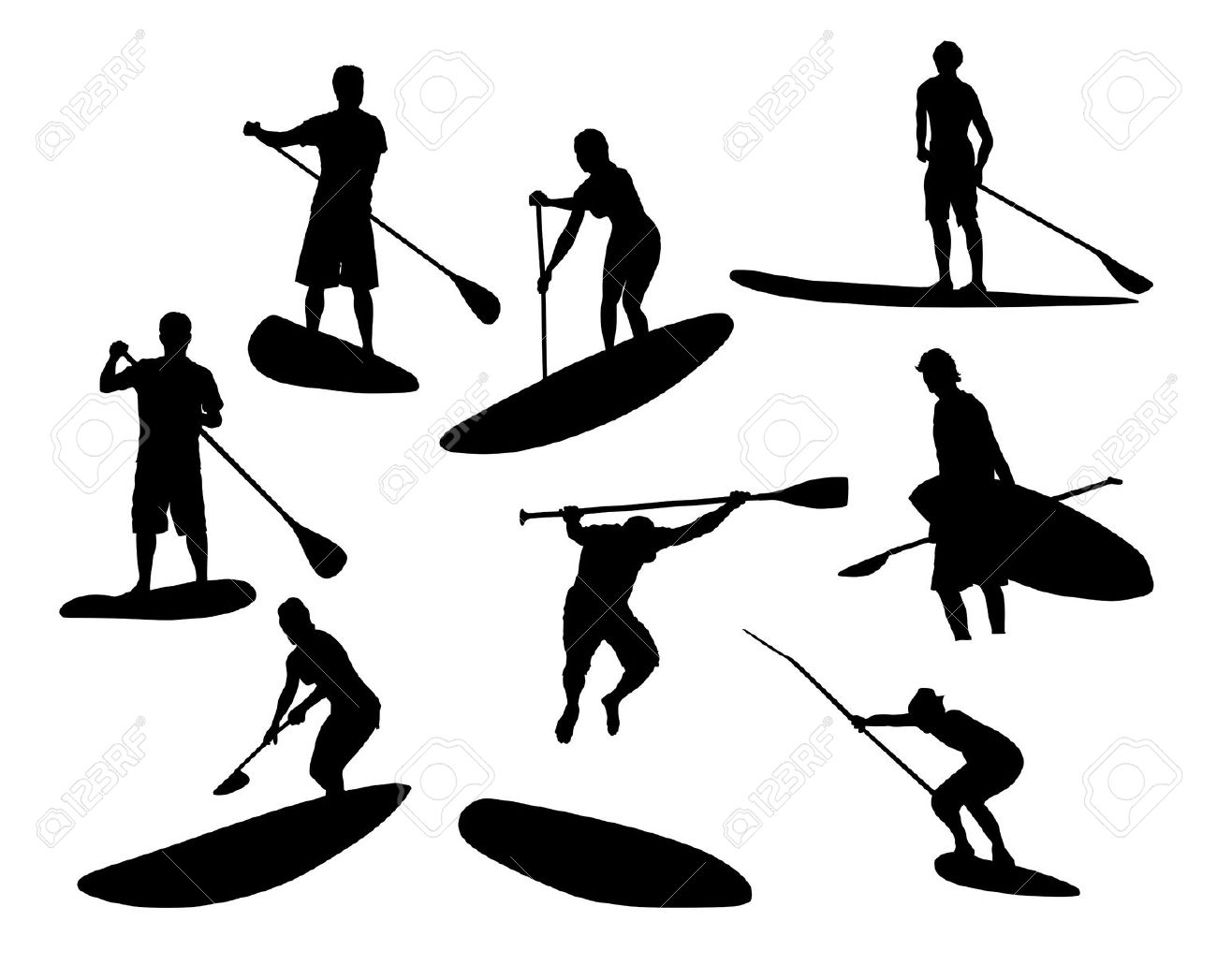 Stand Up Surf Clipart 20 Free Cliparts