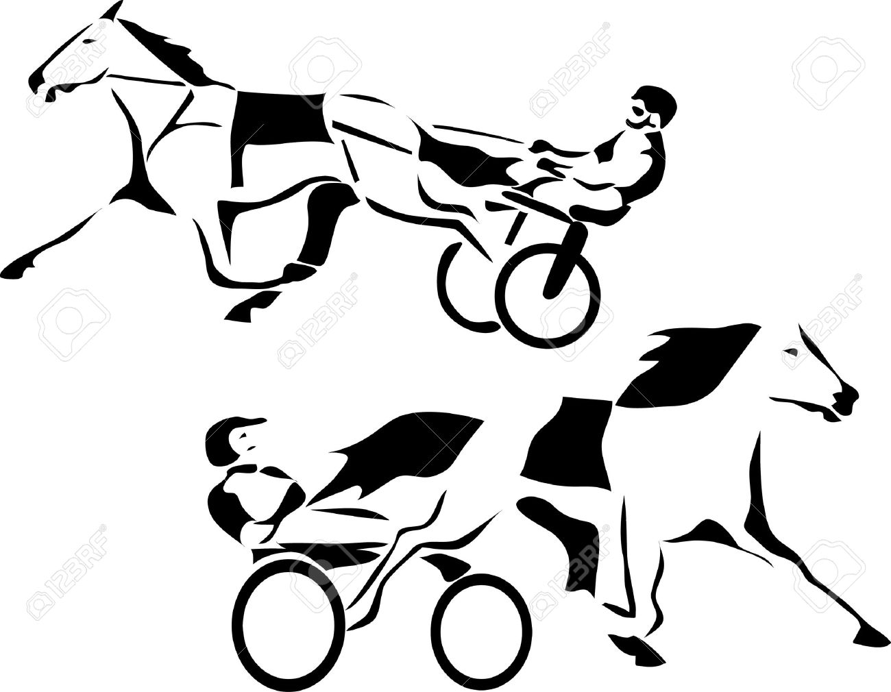 Standardbred Clipart
