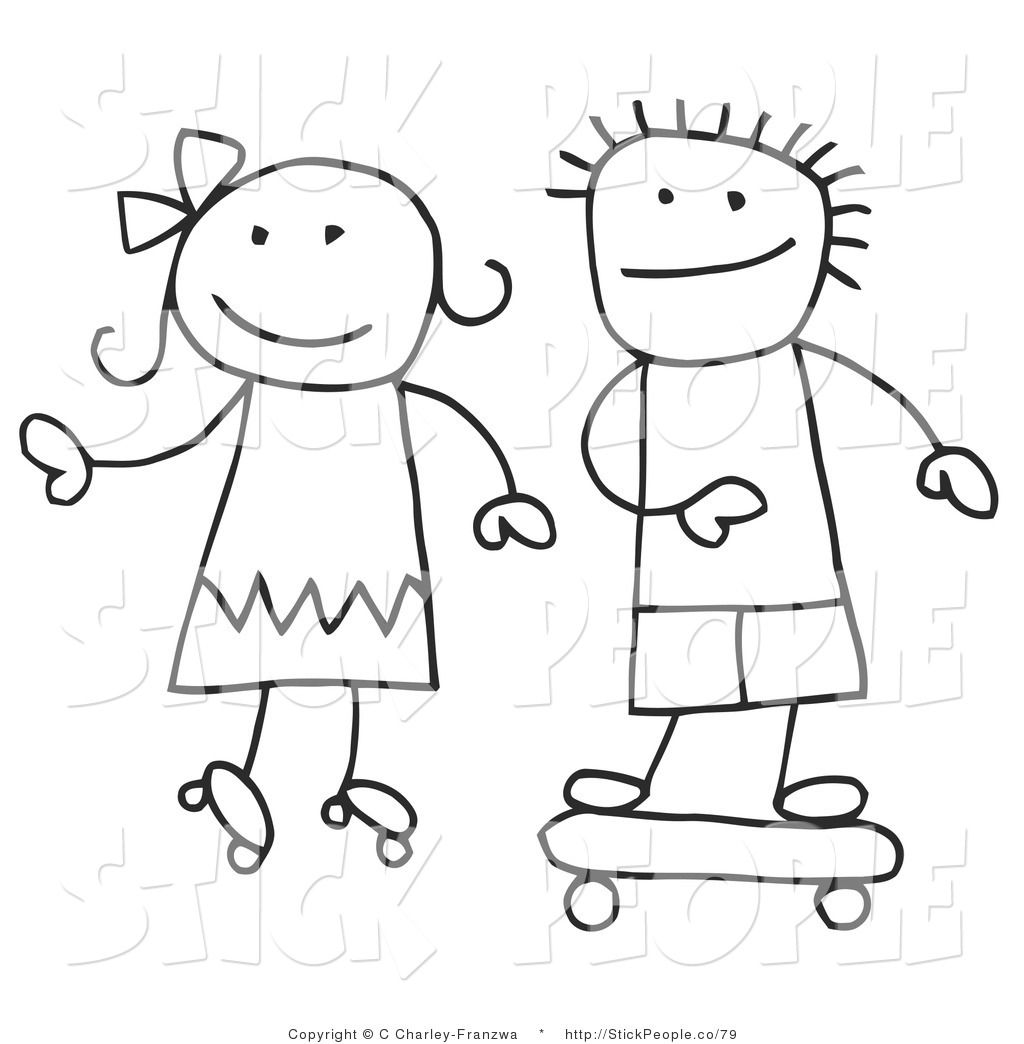 Stick People Clipart Black And White 20 Free Cliparts