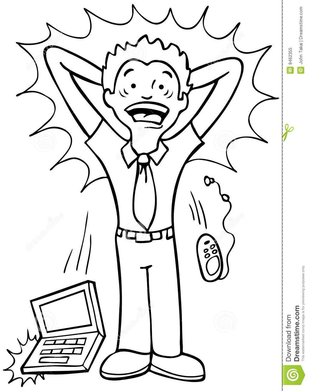 Stress Black Student Clipart