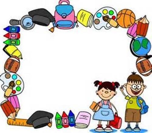Borders Art Kindergarten Certificate Clip
