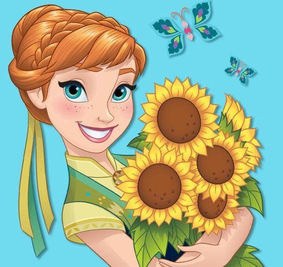 Sunflower Border Anna Frozen Disney Clipart Clipground