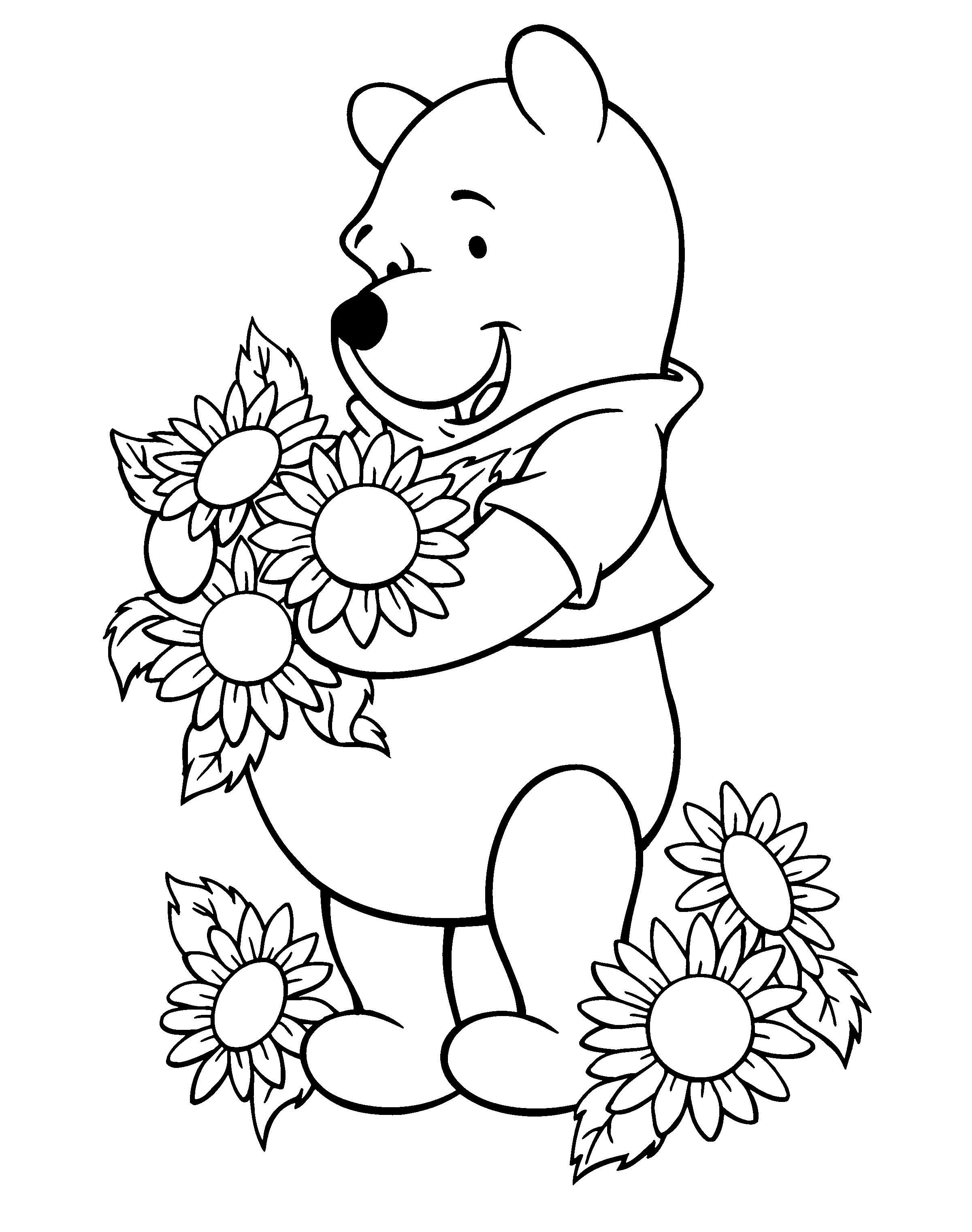 Sunflowers Clipart To Color 20 Free Cliparts