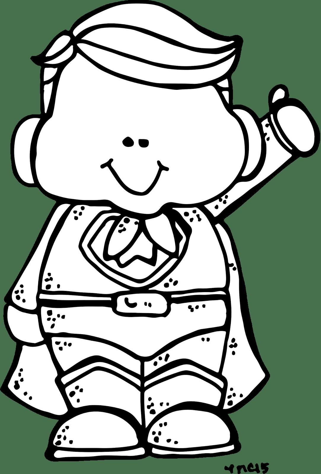 Super Hero Clipart Black And White