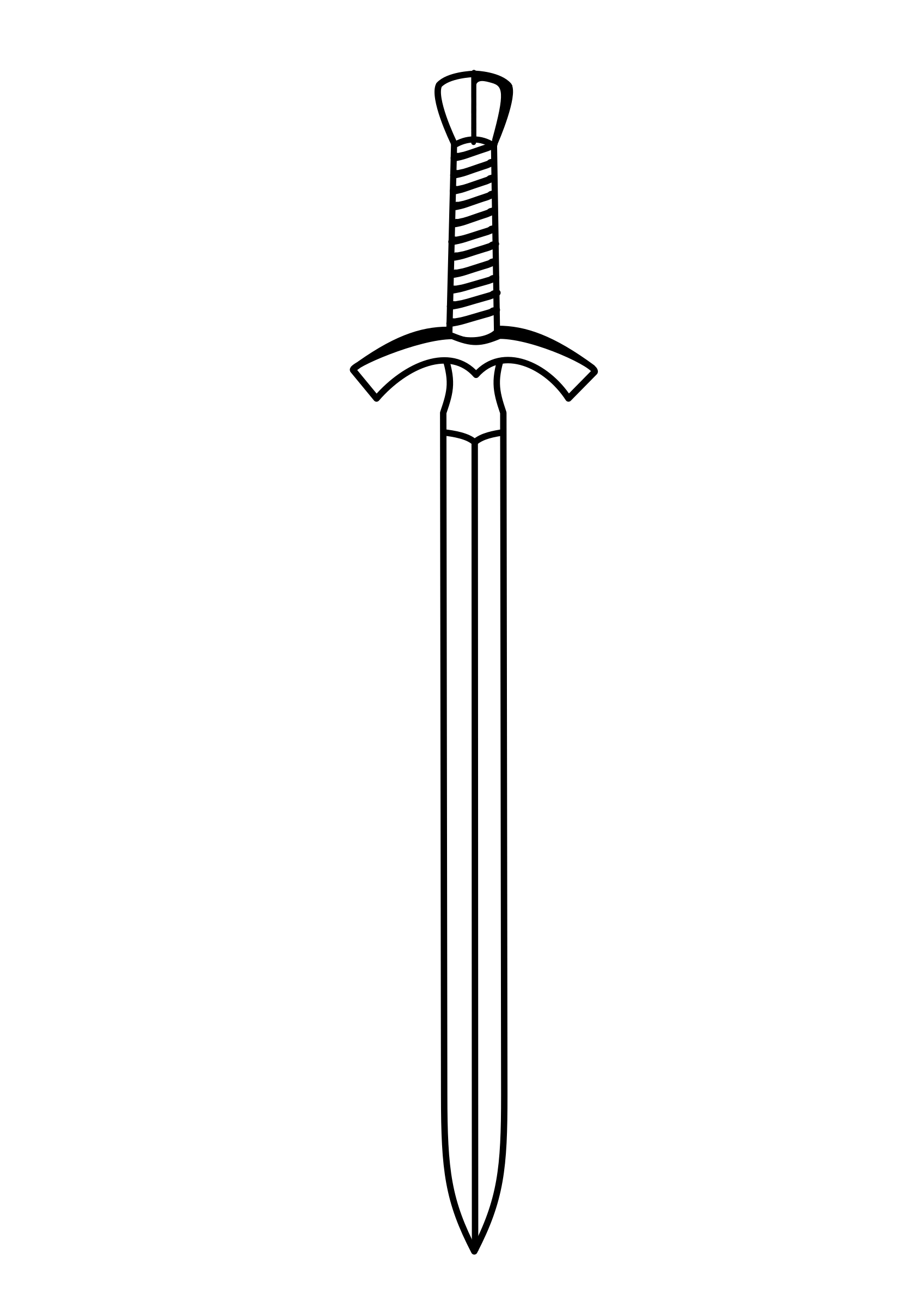 Long Sword Free Coloring Pages