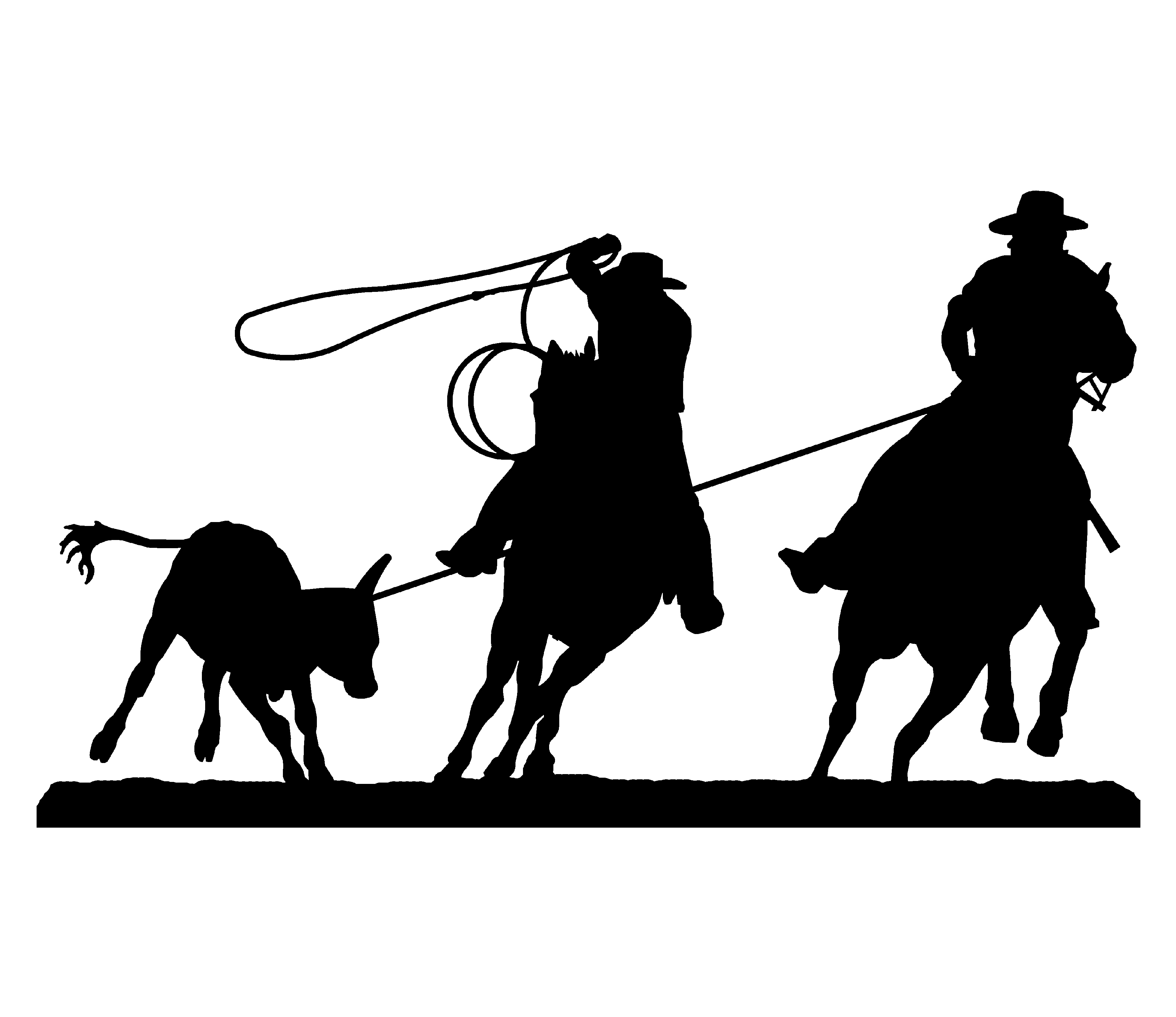 Team Roping Clipart