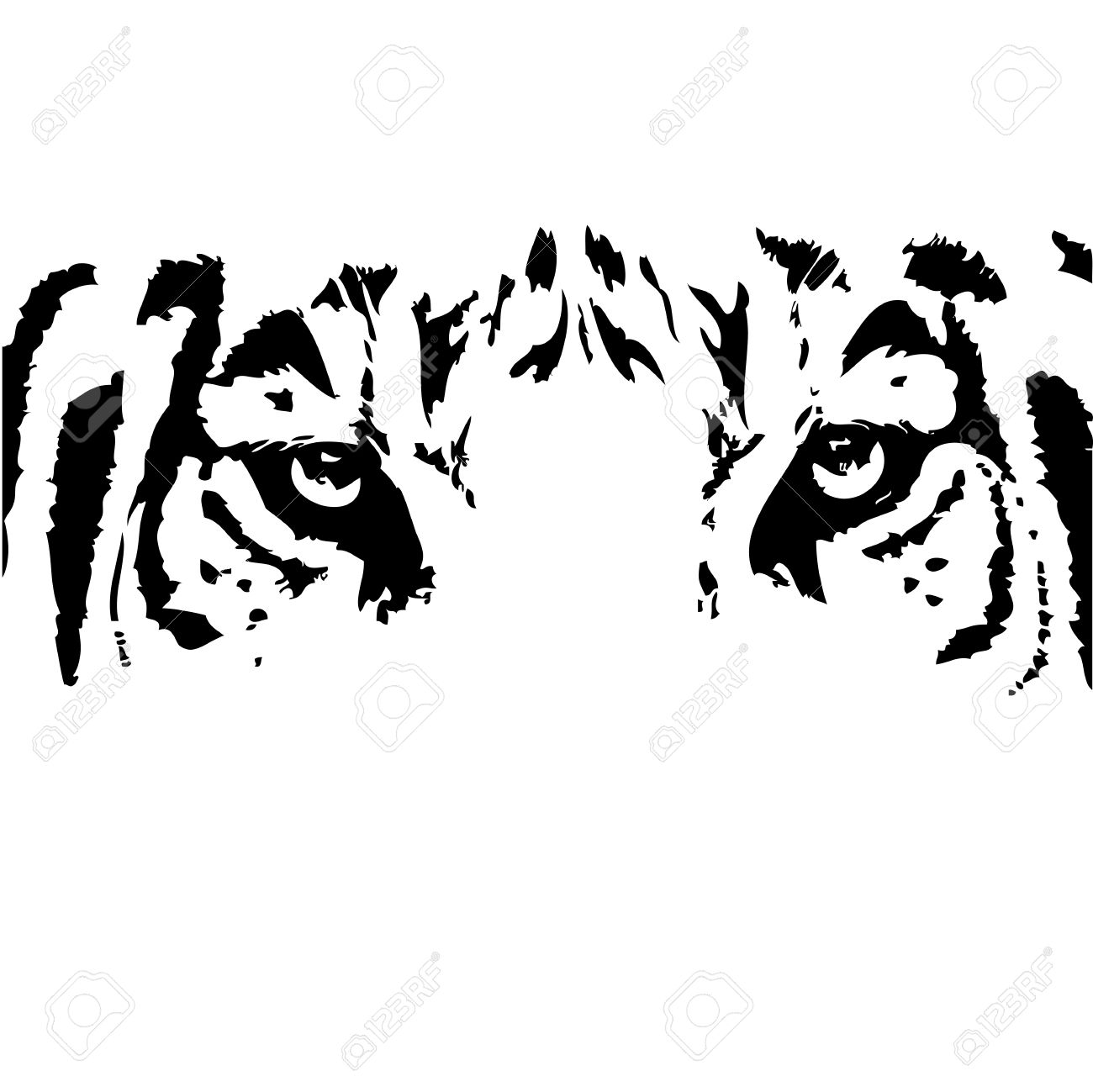 Tiger Eyes Clipart Black And White 20 Free Cliparts