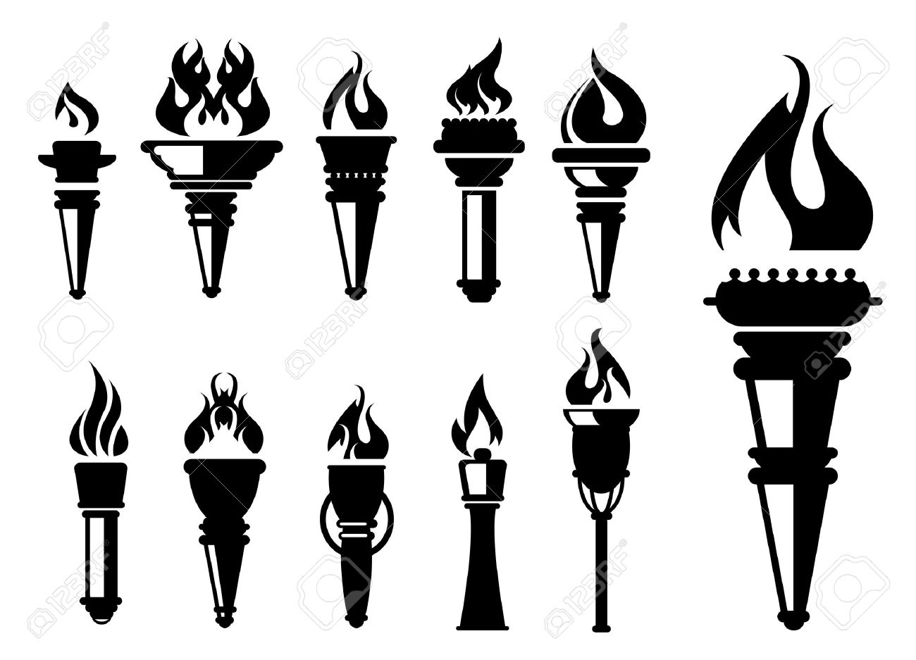Torch Clipart Black And White 20 Free Cliparts